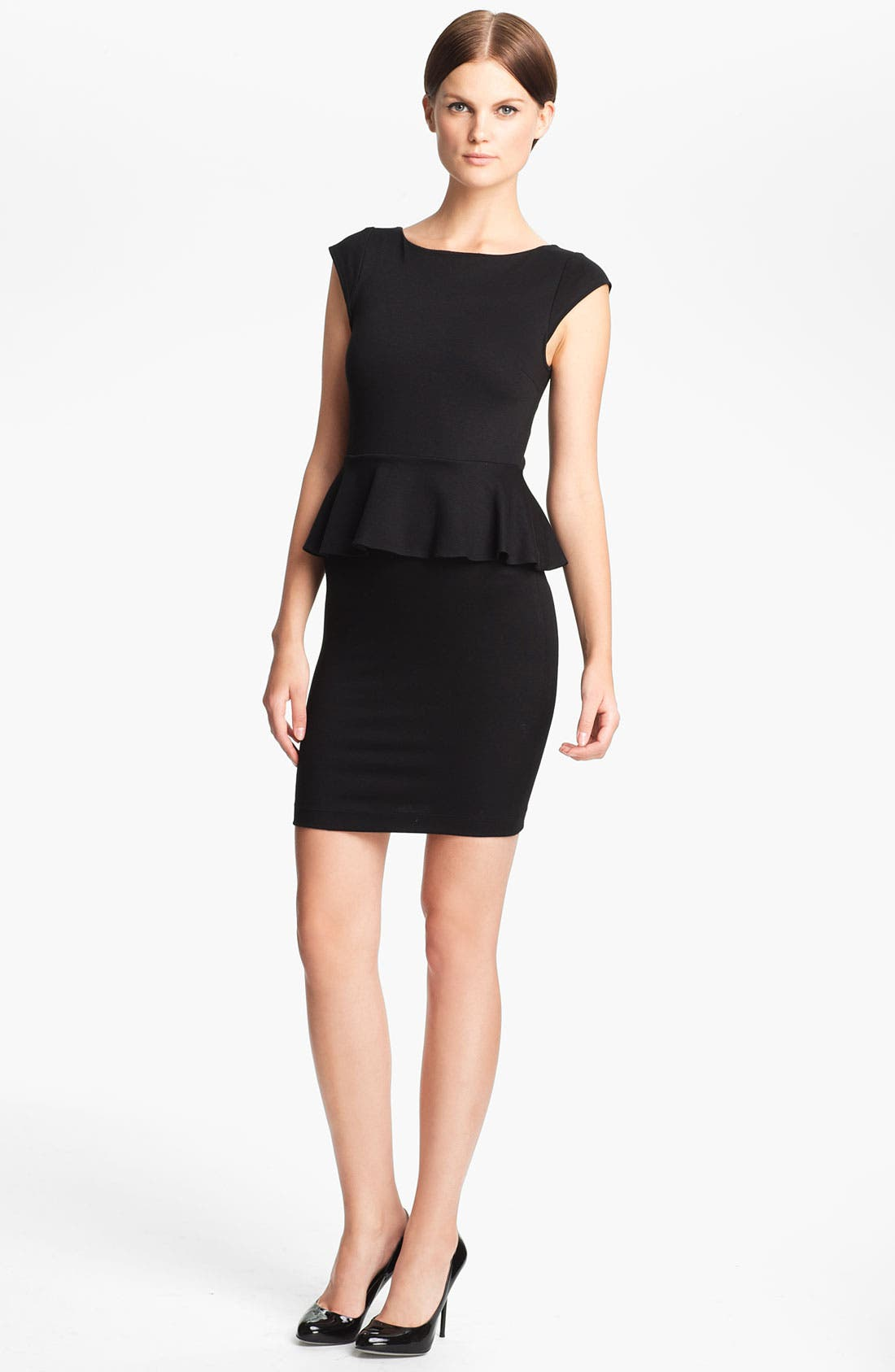 Main Image - Alice + Olivia 'Victoria' Peplum Dress