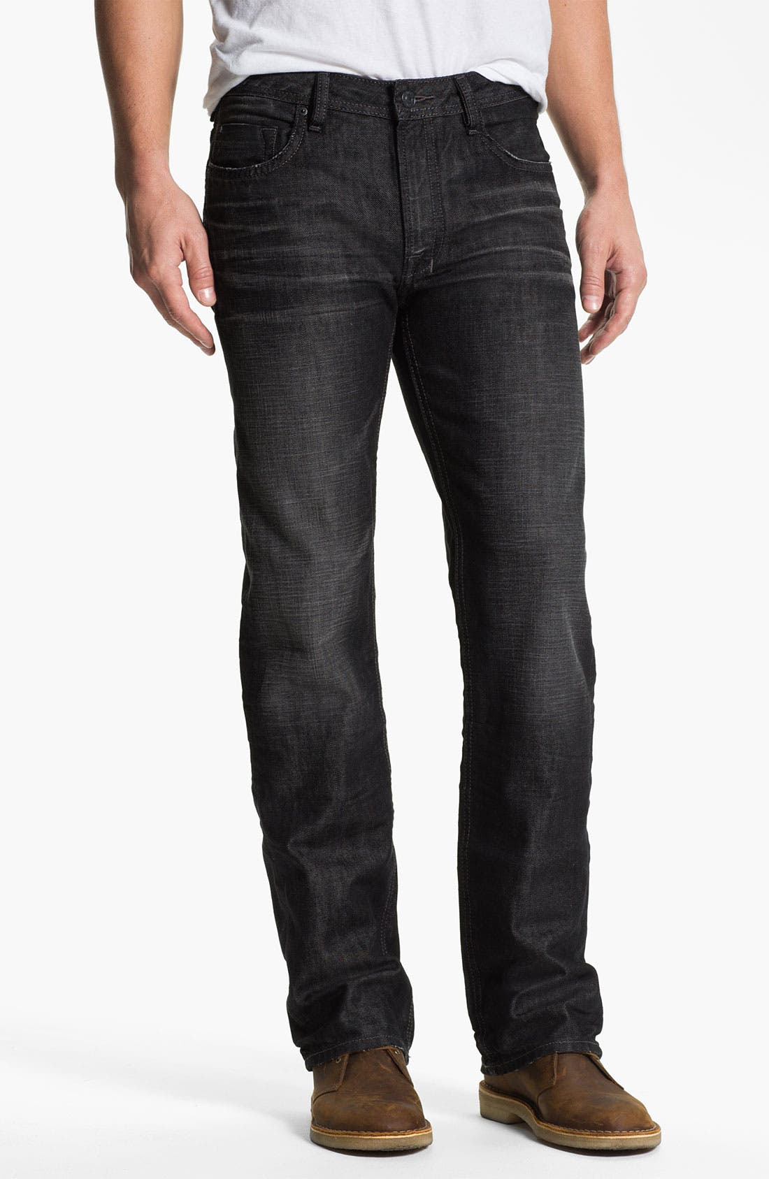 Alternate Image 1 Selected - Buffalo Jeans 'Driven' Straight Leg Jeans (Dark/Washed)