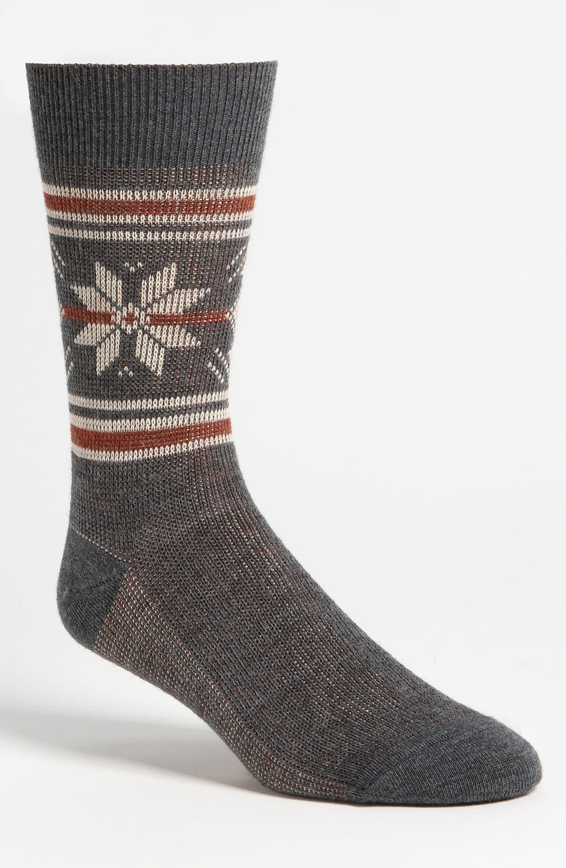 Main Image - Timberland Midweight Merino Wool Blend Crew Socks