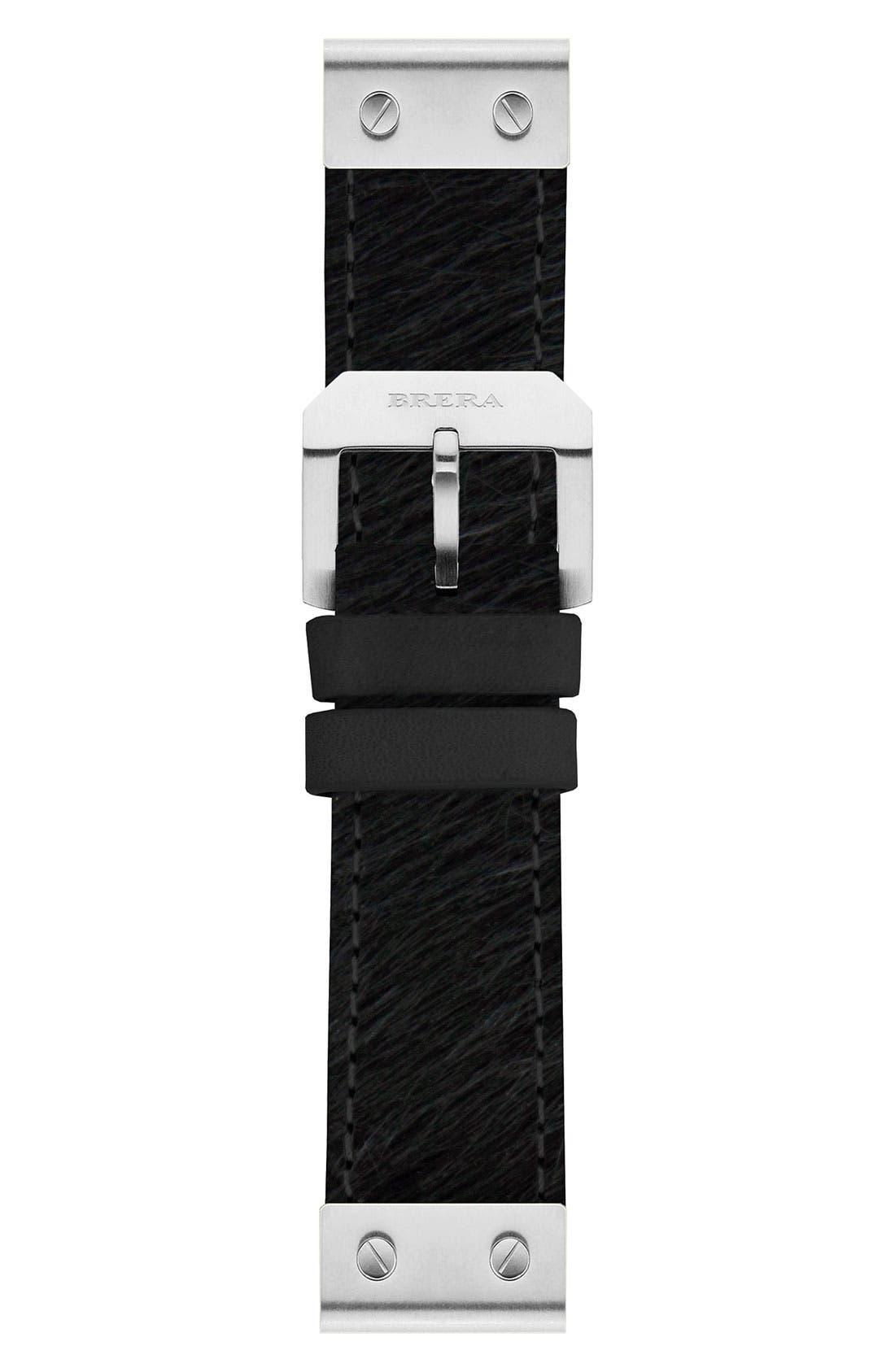 Alternate Image 1 Selected - 22MM PONY HAIR STRAP W/ SILVER HARDWARE