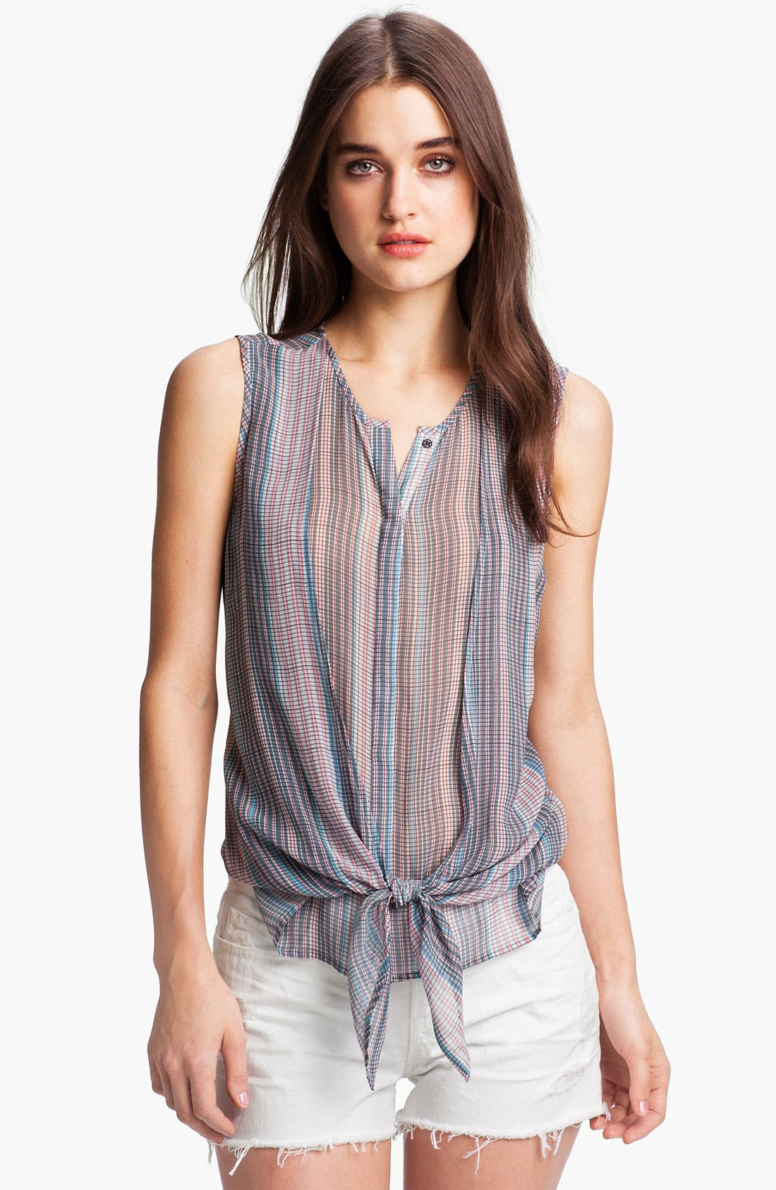 Alternate Image 1 Selected - Joie 'Fulton' Tie Front Stripe Tank