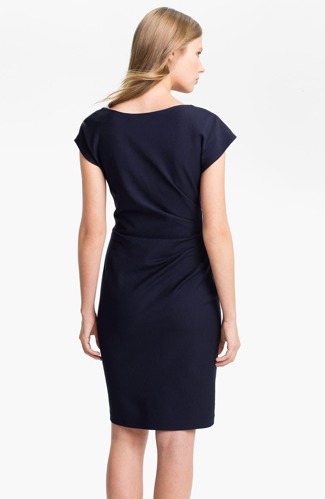 Alternate Image 2  - Suzi Chin for Maggy Boutique Draped Neck Sheath Dress