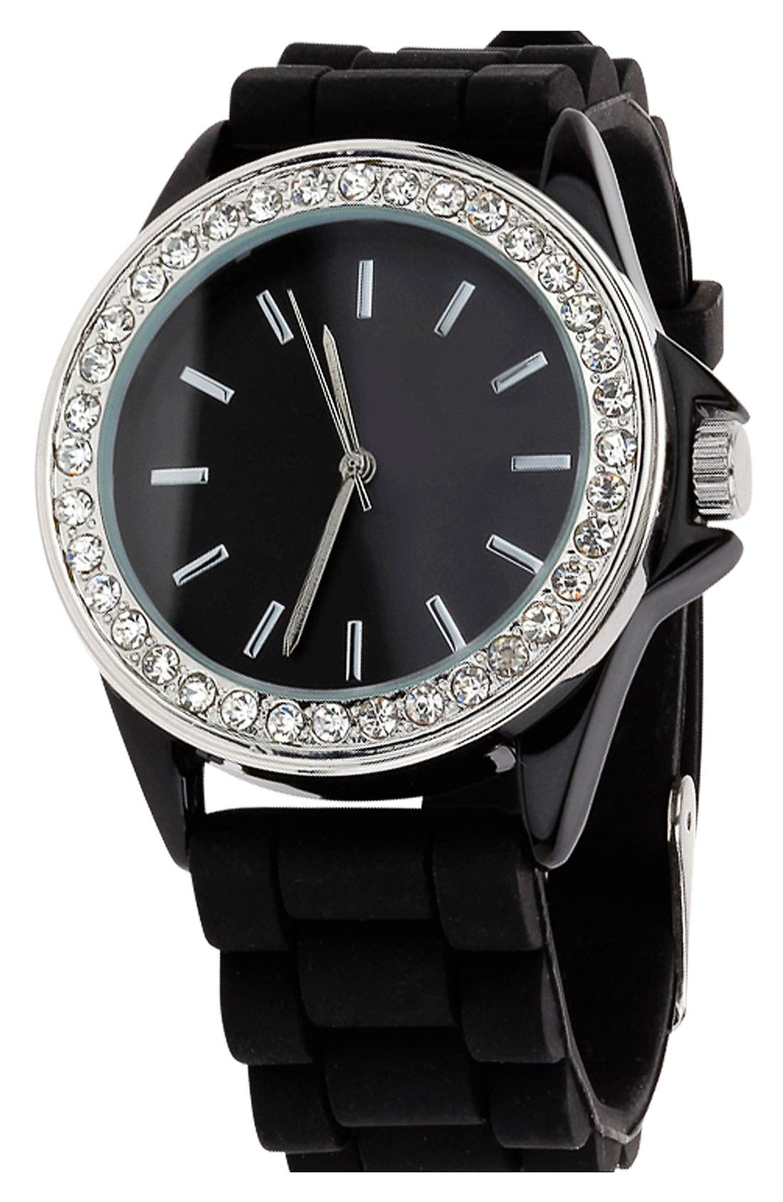Alternate Image 1 Selected - Topman Crystal Studded Watch