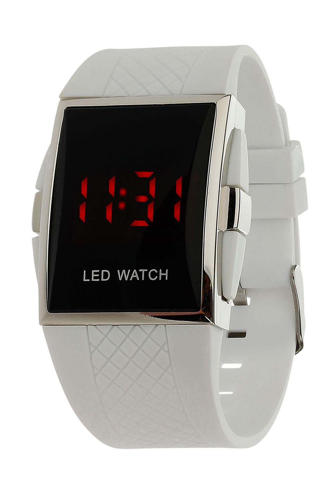 Alternate Image 1 Selected - Topman Textured Strap LED Watch