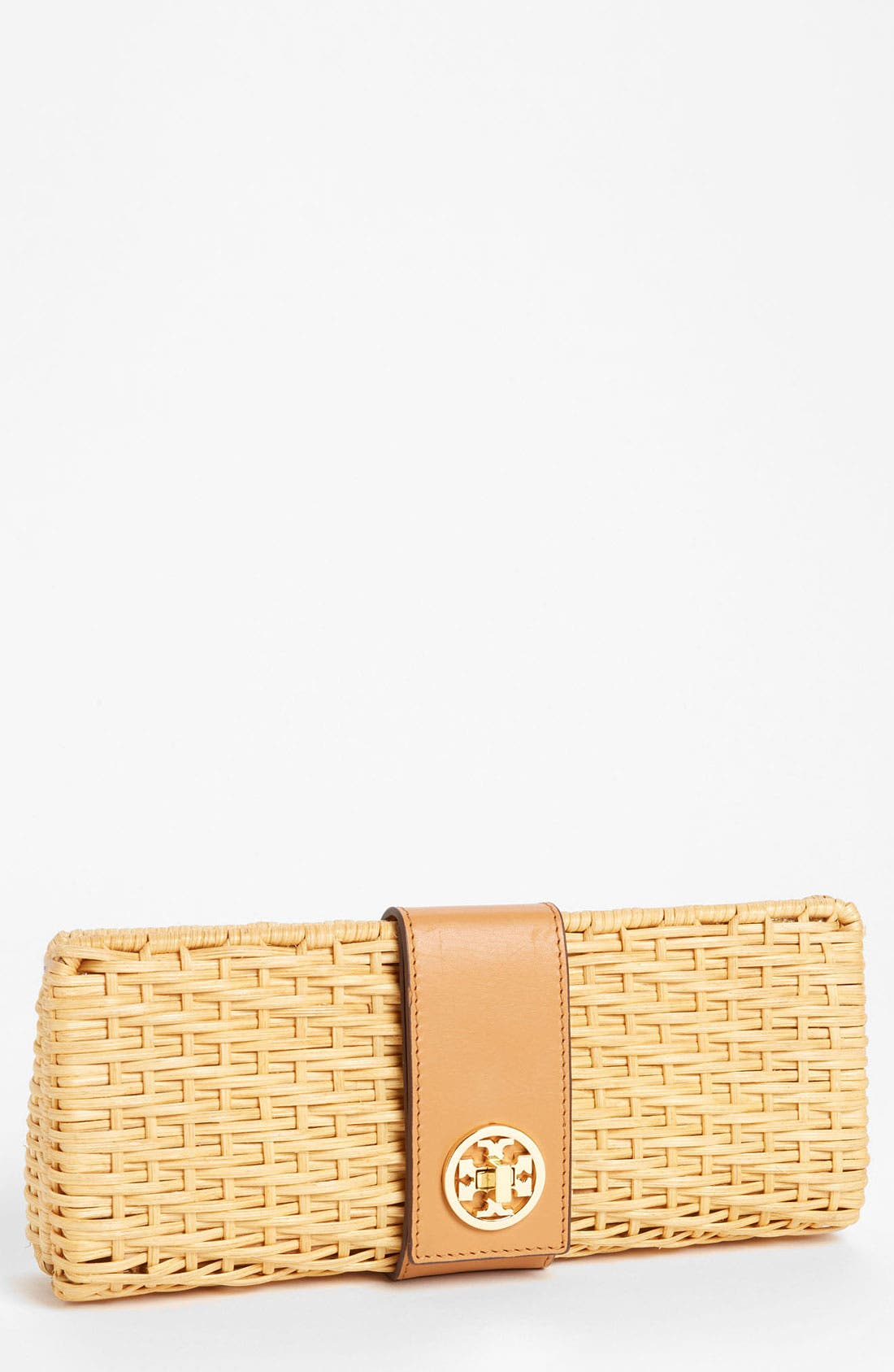 Alternate Image 1 Selected - Tory Burch 'Lac' Rattan Clutch