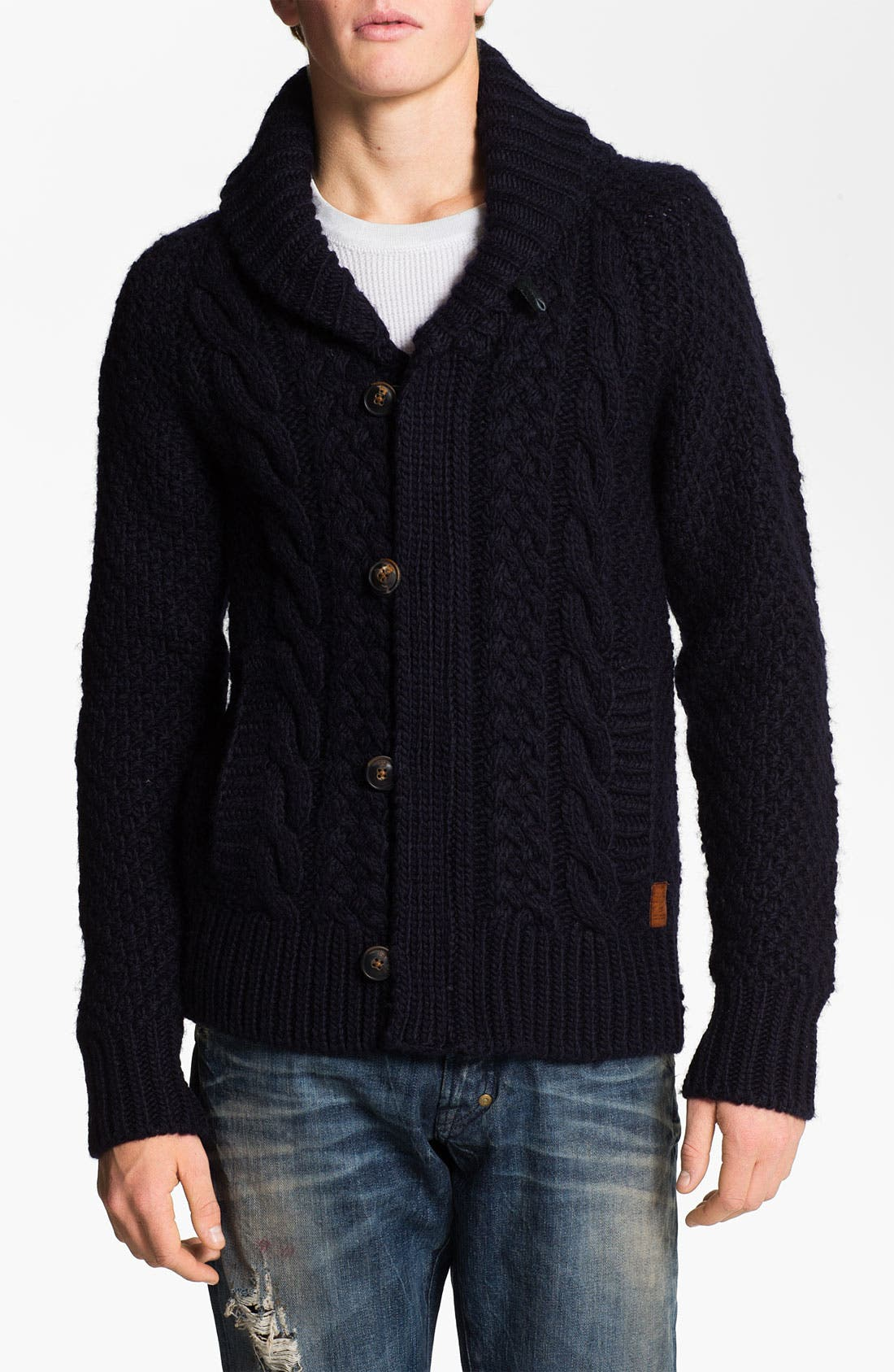 Alternate Image 1 Selected - Scotch & Soda Shawl Collar Sweater