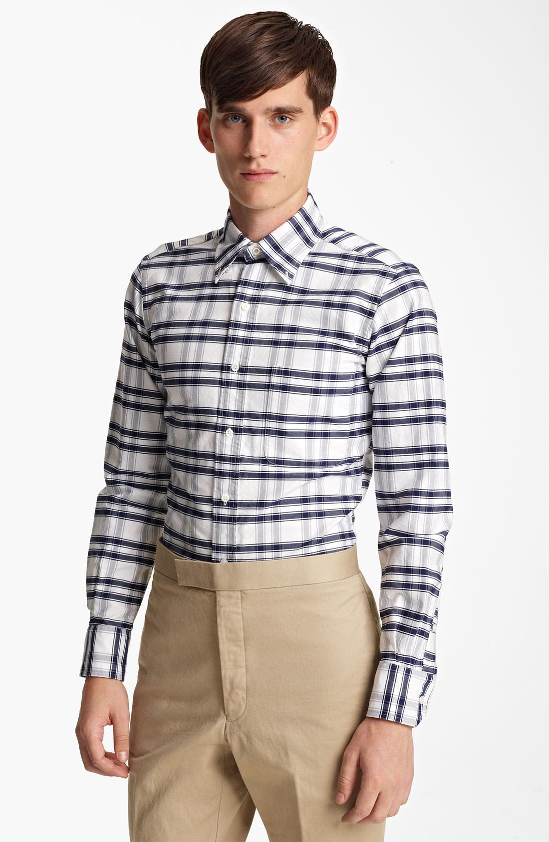 Alternate Image 1 Selected - Thom Browne Check Oxford Shirt