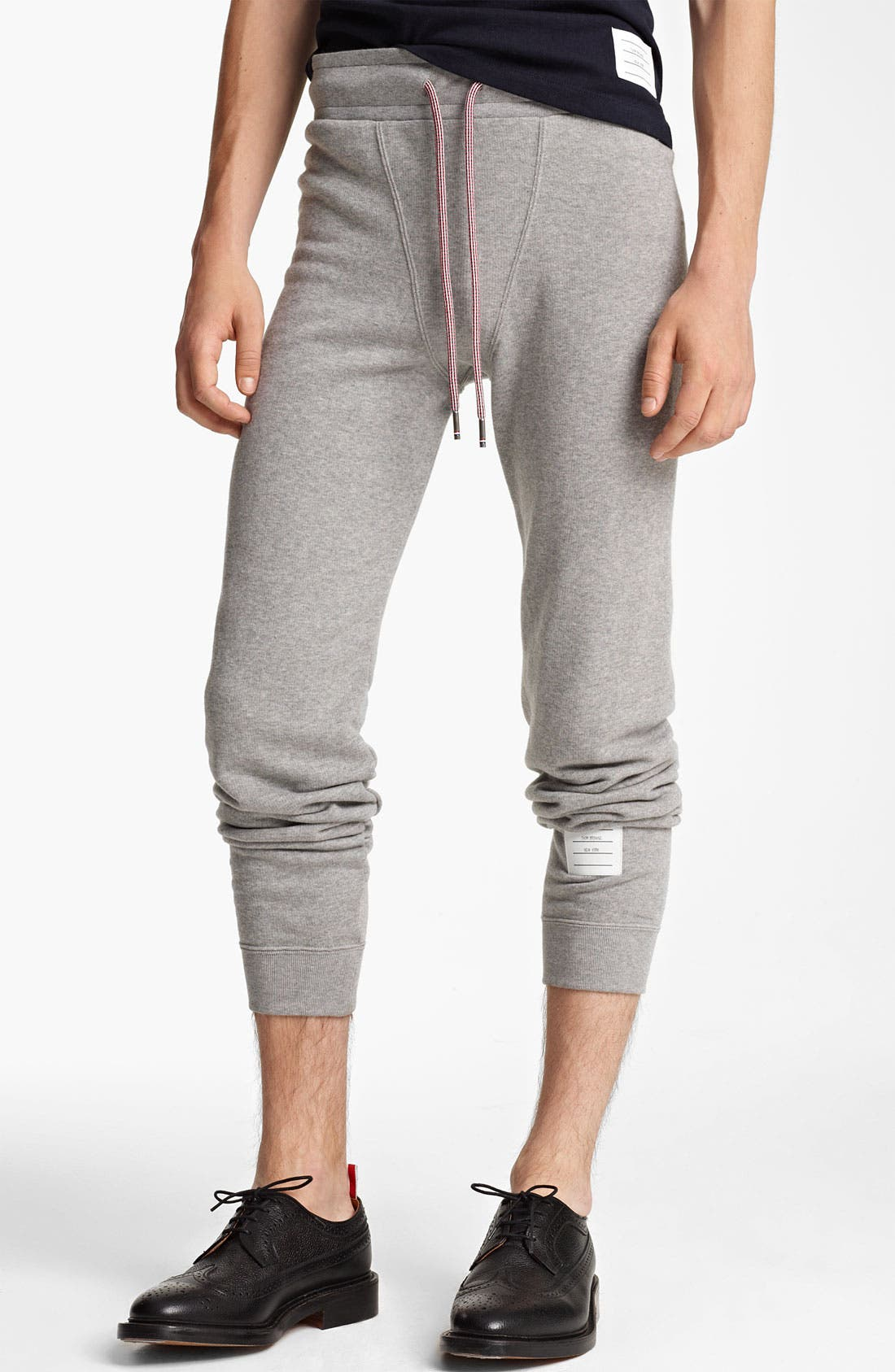 Alternate Image 3  - Thom Browne Cotton Terry Sweatpants