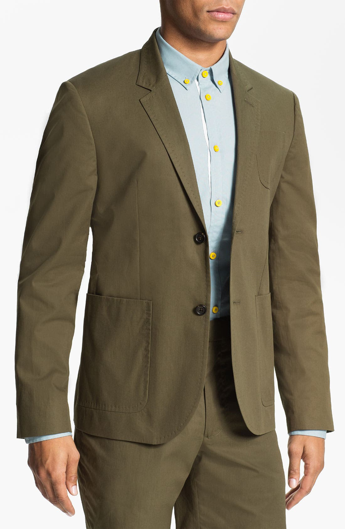 Alternate Image 1 Selected - MARC BY MARC JACOBS 'Harvey' Twill Cotton Blazer