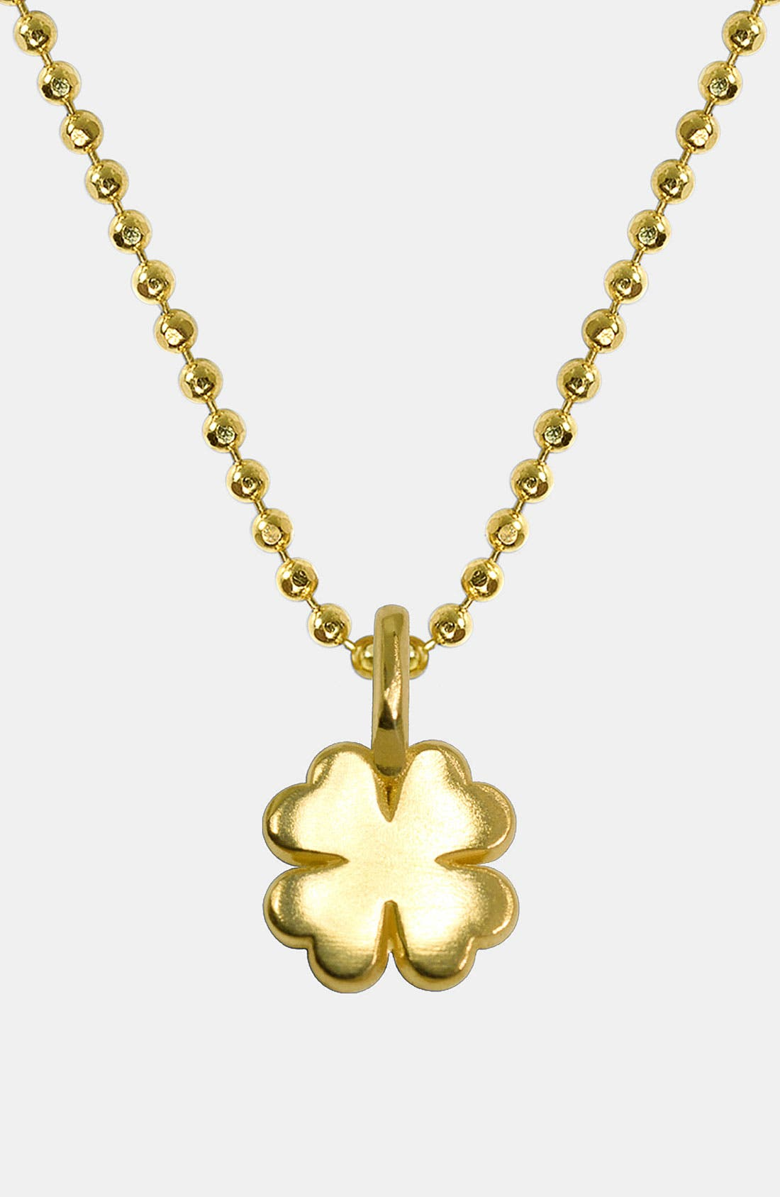 Alternate Image 1 Selected - Alex Woo 'Mini Clover' 14k Gold Pendant Necklace