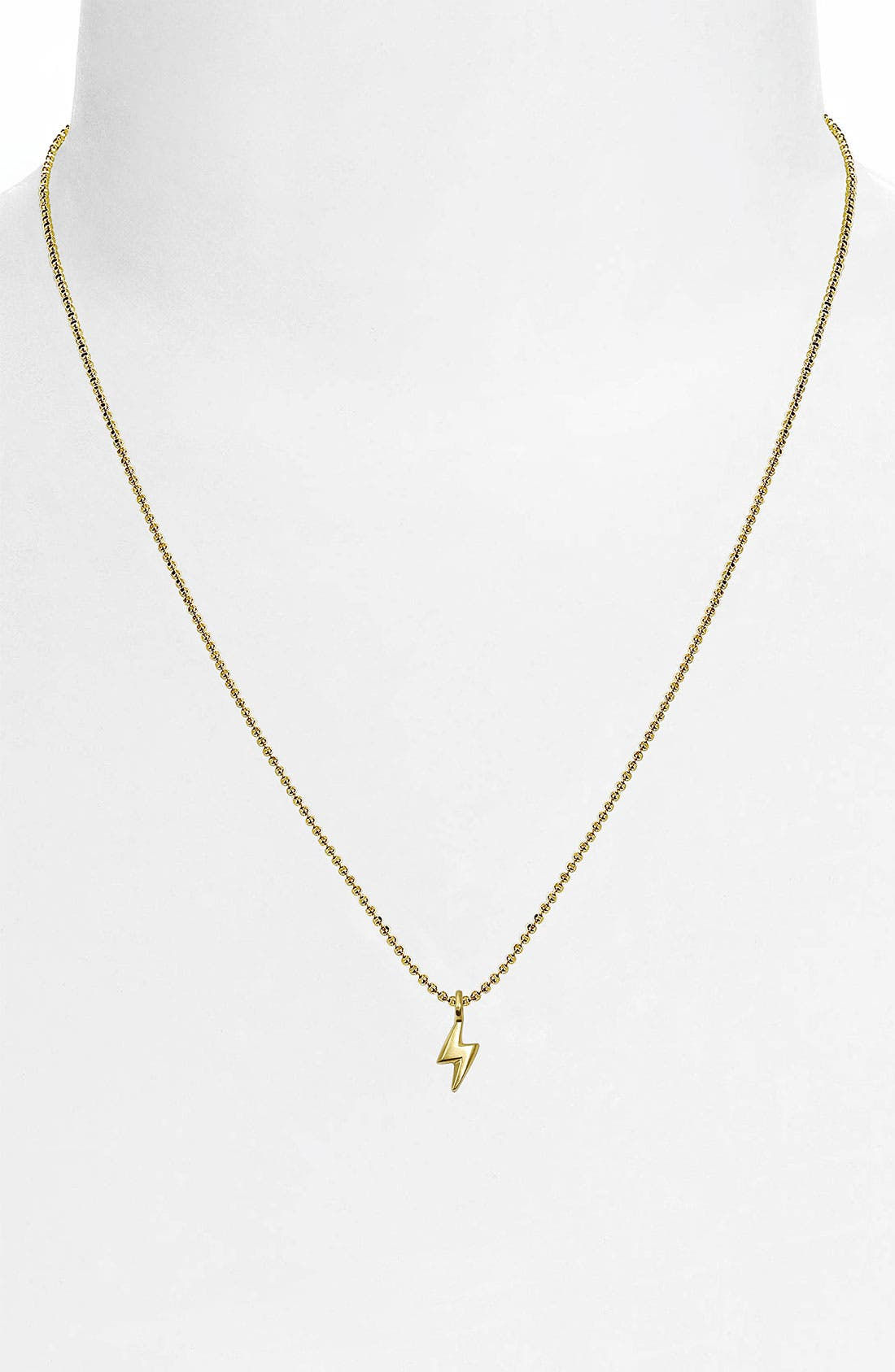 Alternate Image 2  - Alex Woo 'Mini Lightening Bolt' 14k Gold Pendant Necklace