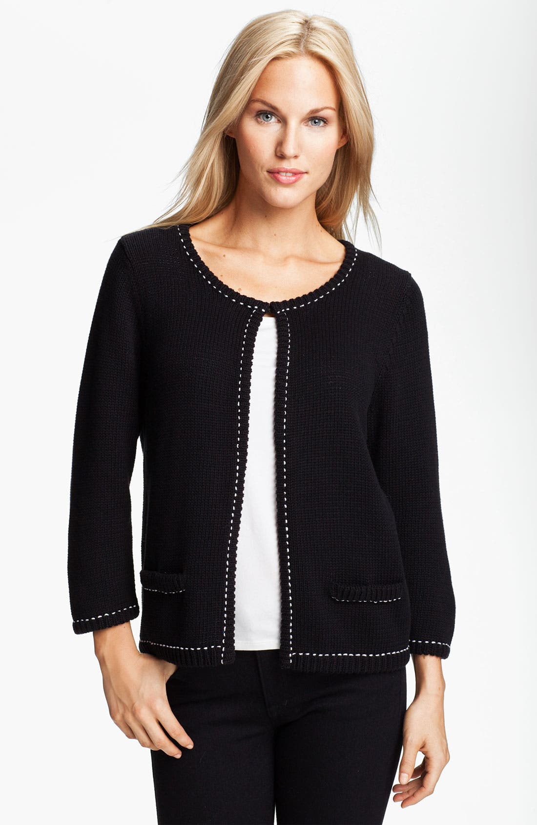 Main Image - Fever Stitch Trim Cardigan