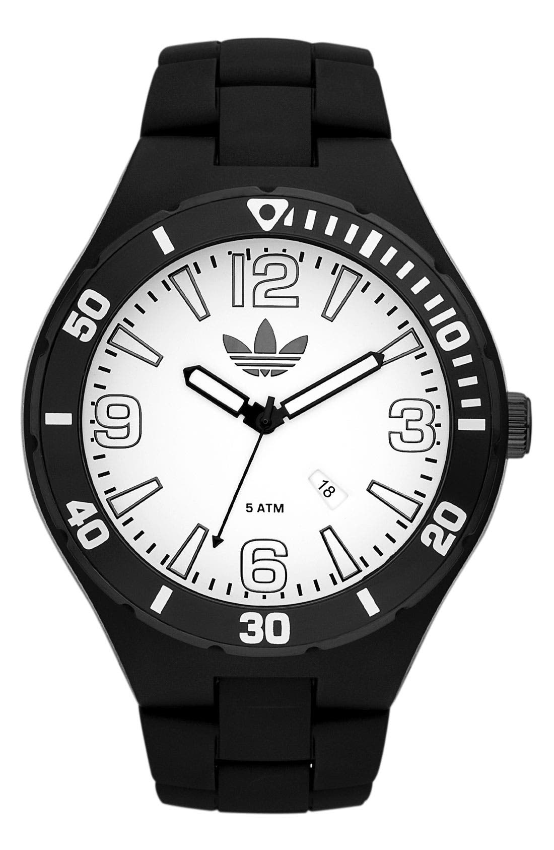 Alternate Image 1 Selected - adidas Originals 'Melbourne' Resin Bracelet Watch