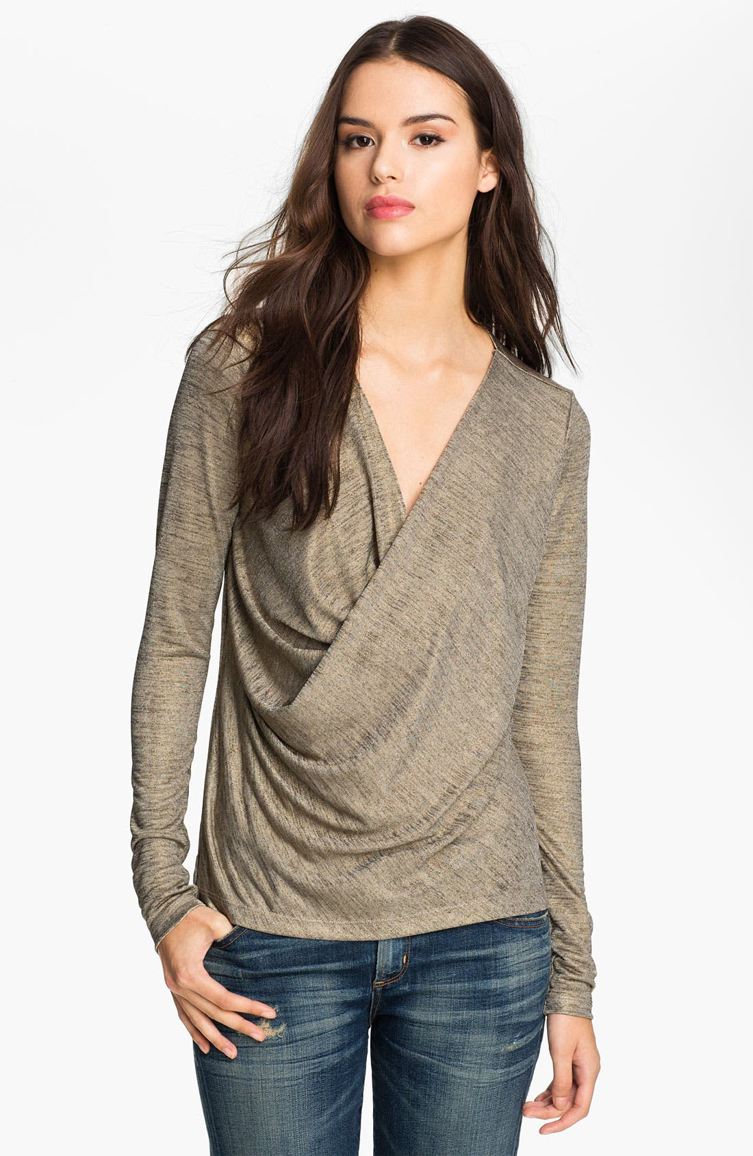 Main Image - Heed Draped Mélange Top