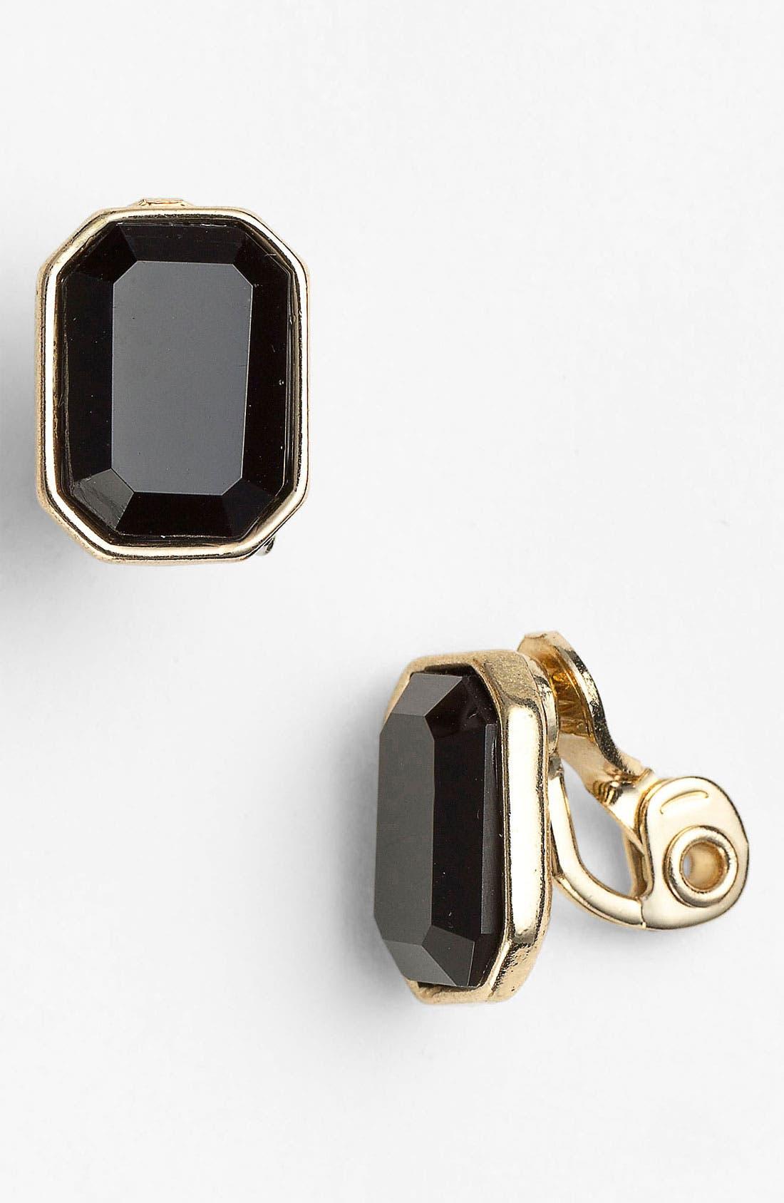 Alternate Image 1 Selected - Anne Klein Clip Earrings