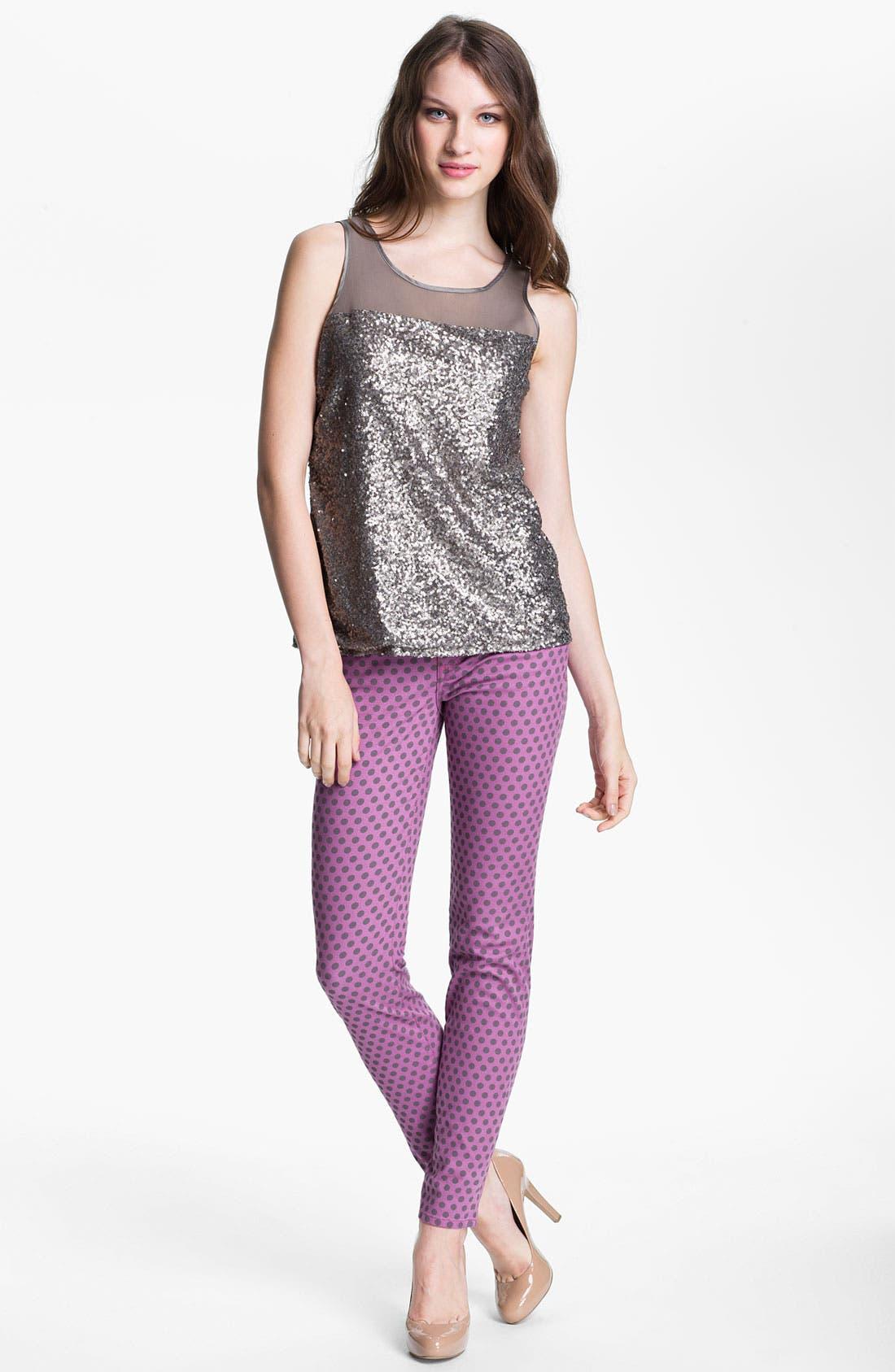 Alternate Image 4  - KUT from the Kloth 'Diana' Polka Dot Skinny Jeans