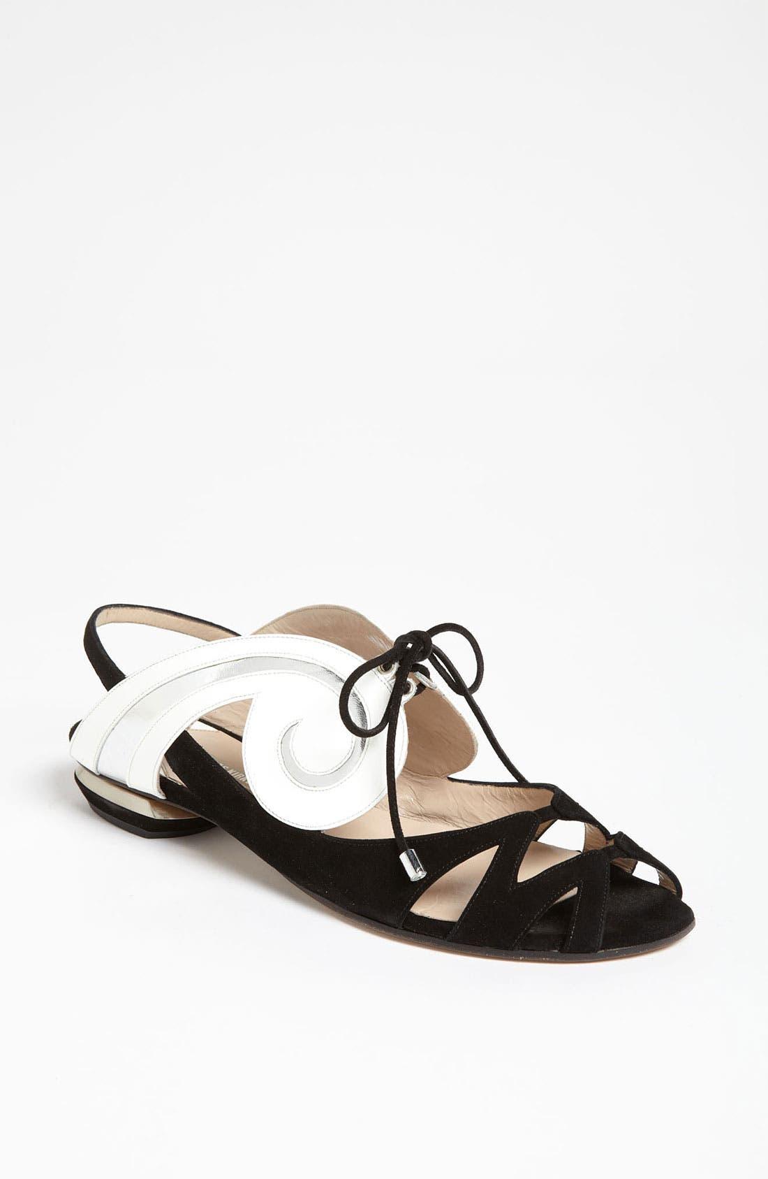 Alternate Image 1 Selected - Nicholas Kirkwood 'Swirl' Flat Sandal