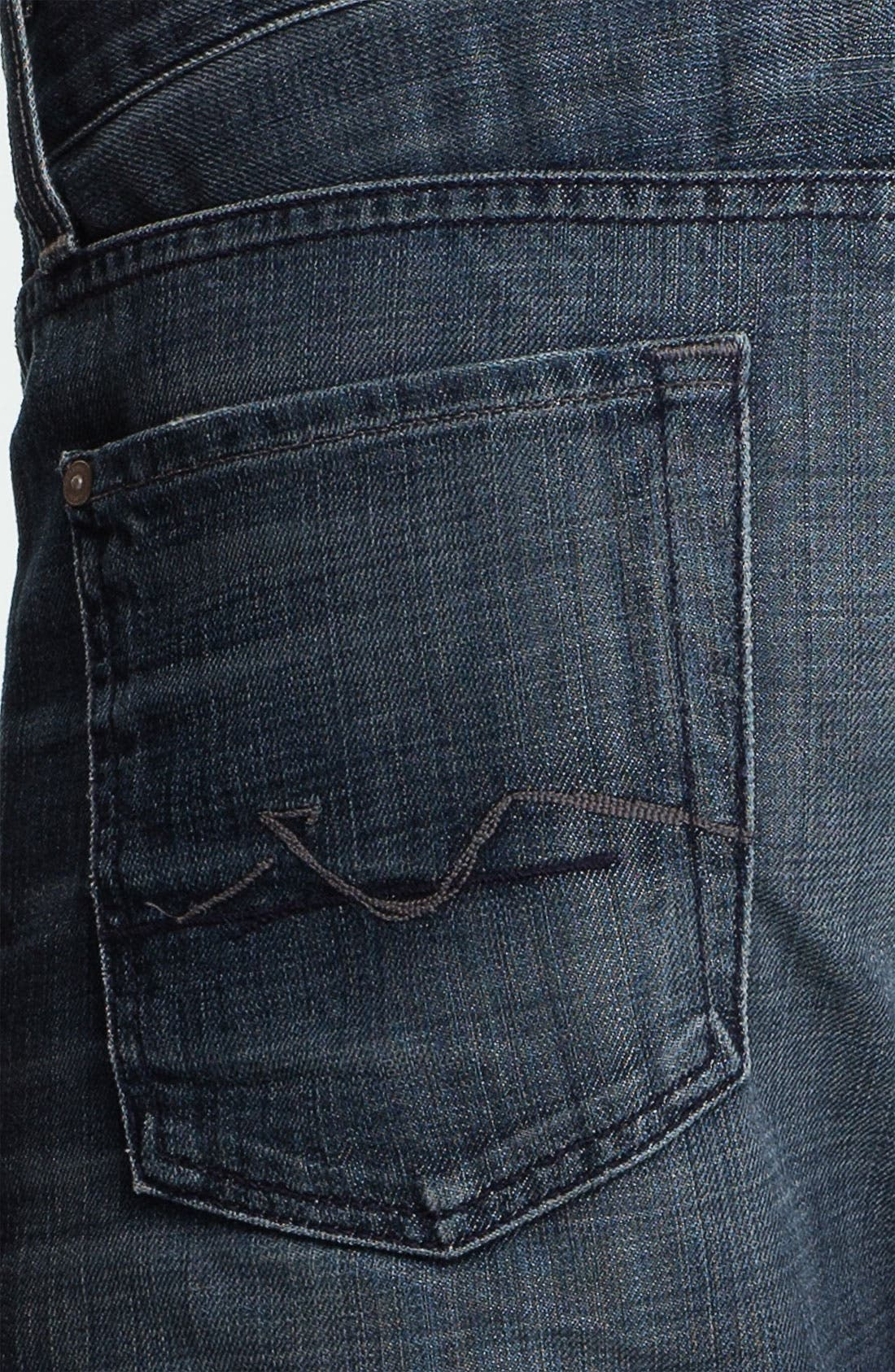 Alternate Image 4  - 7 For All Mankind® 'Standard' Straight Leg Jeans (Crater Lake)