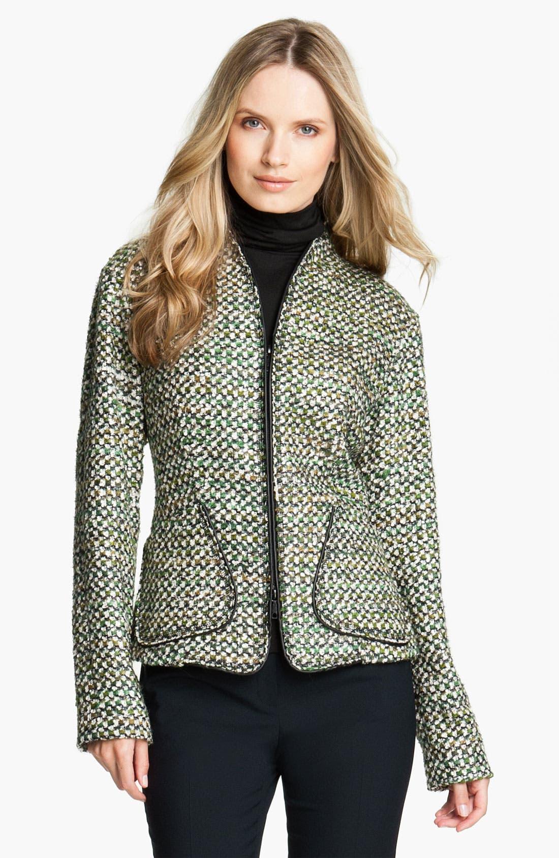 Alternate Image 1 Selected - Lafayette 148 New York 'Hierarchy' Tweed Jacket (Petite)