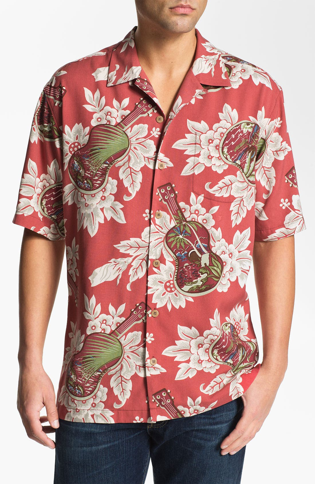 Alternate Image 1 Selected - Tommy Bahama 'Island Jams' Silk Campshirt