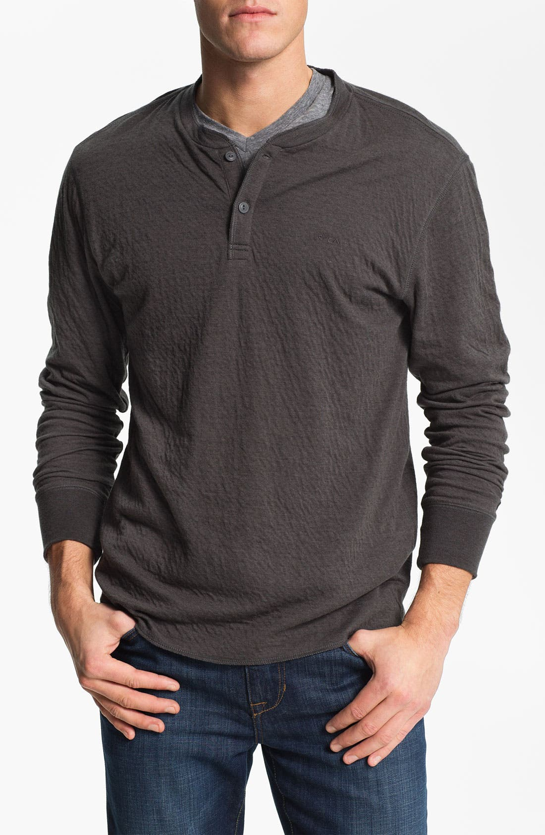 Alternate Image 1 Selected - RVCA 'Logger' Knit Henley Shirt
