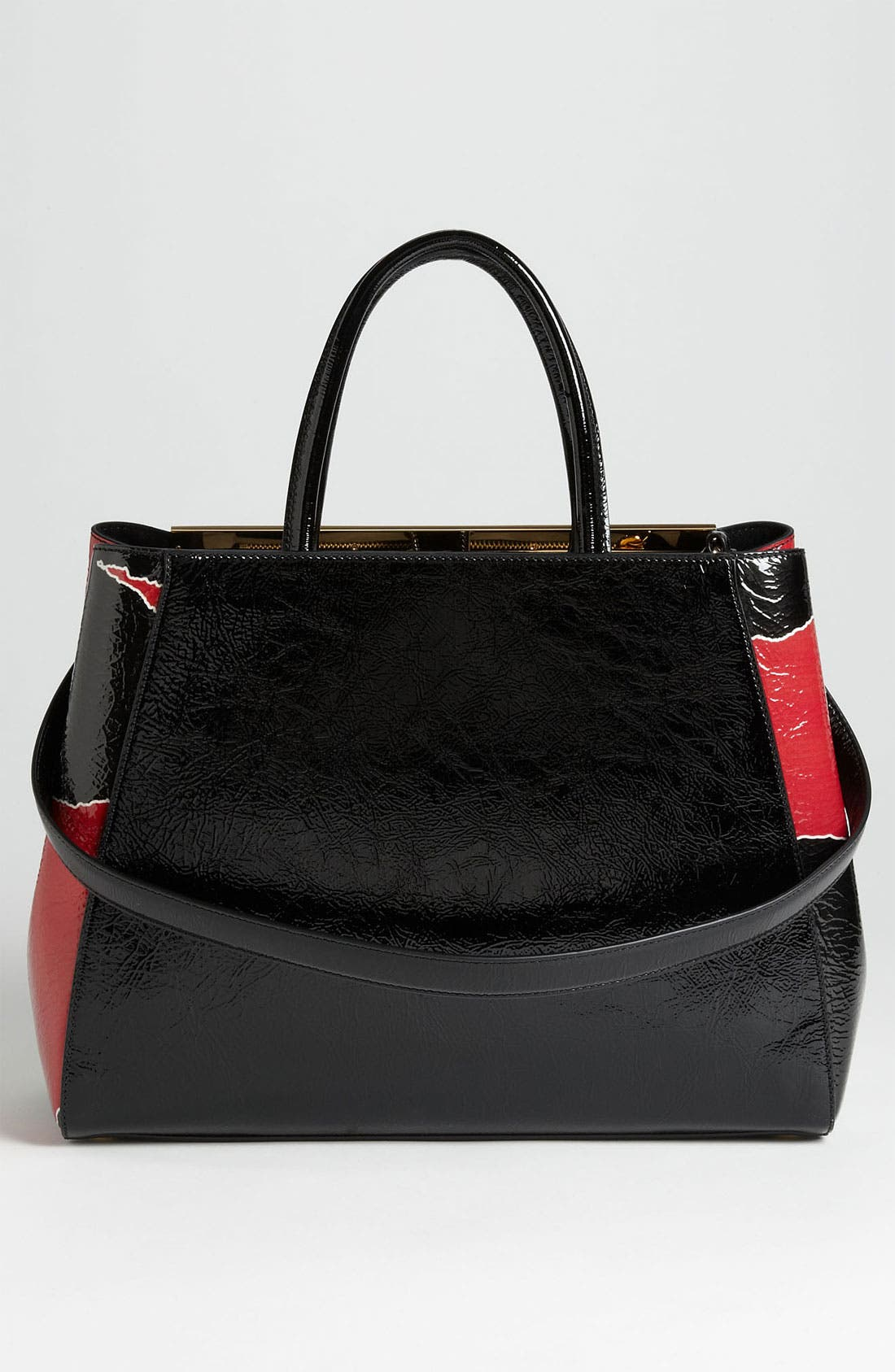 Alternate Image 4  - Fendi '2Jours - Medium' Patent Leather Shopper