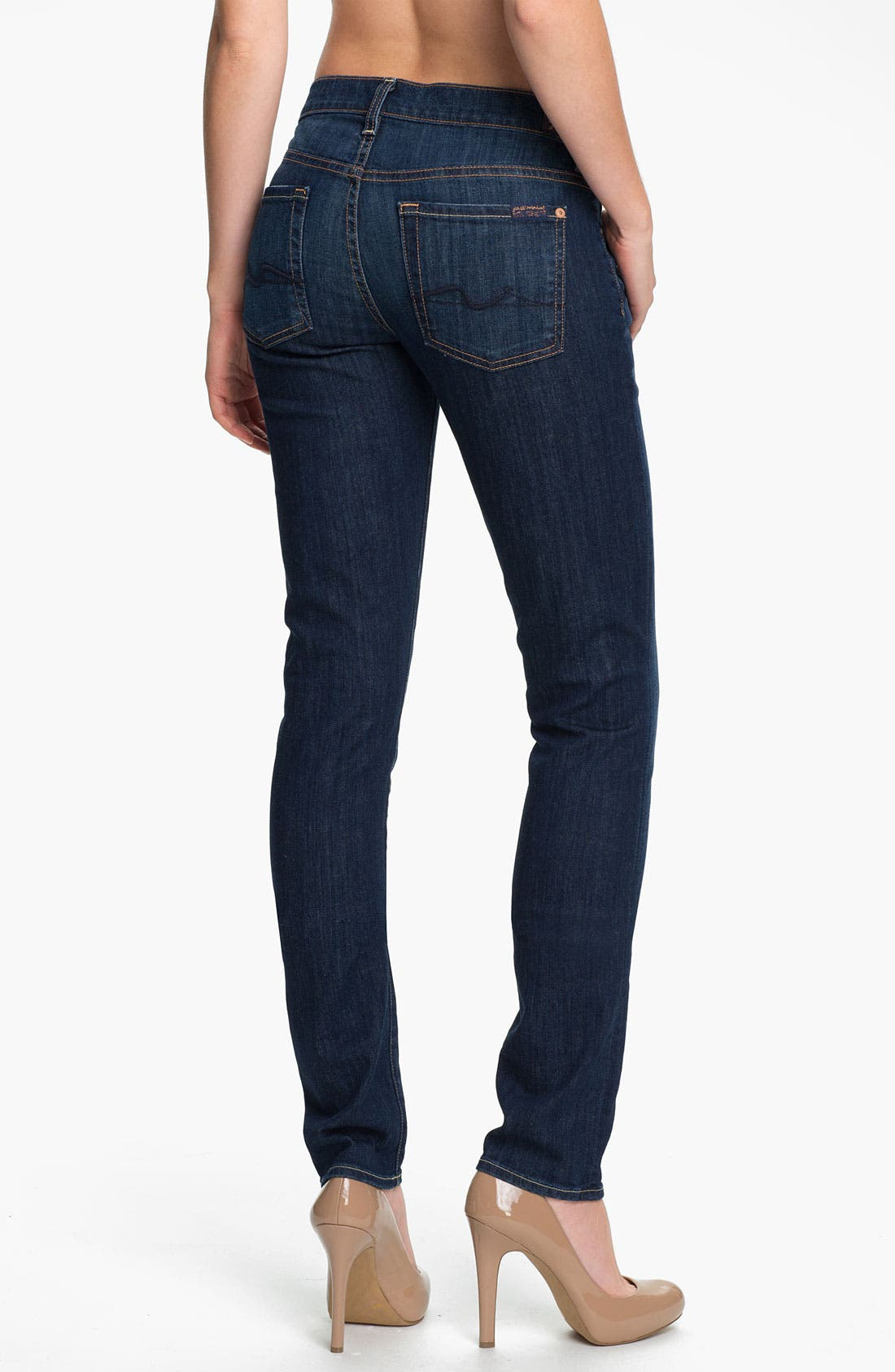 Alternate Image 2  - 7 For All Mankind® 'Roxanne' Skinny Stretch Jeans (Warm Medium Blue)