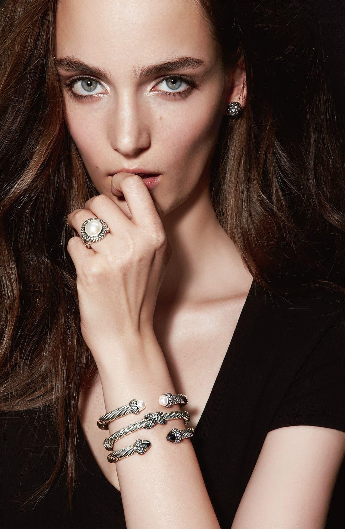 Alternate Image 3  - David Yurman 'Cable Classics' Bracelet with Pearls and Diamonds