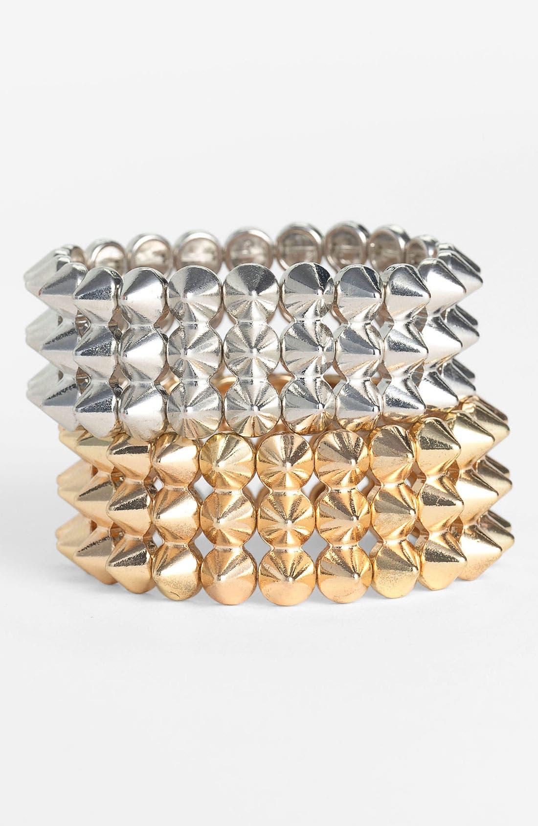 Main Image - Cara Studded Stretch Bracelet