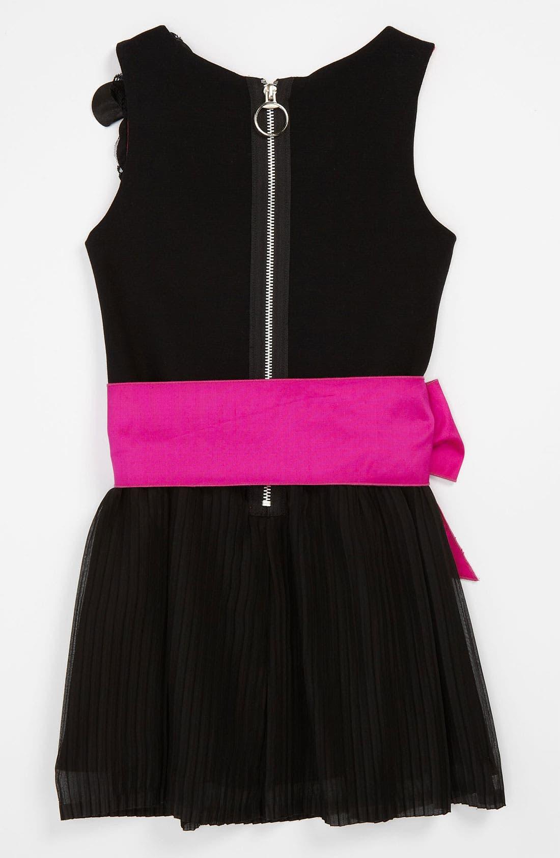 Alternate Image 2  - Zoe Ltd Chiffon Ruffle Dress (Big Girls)