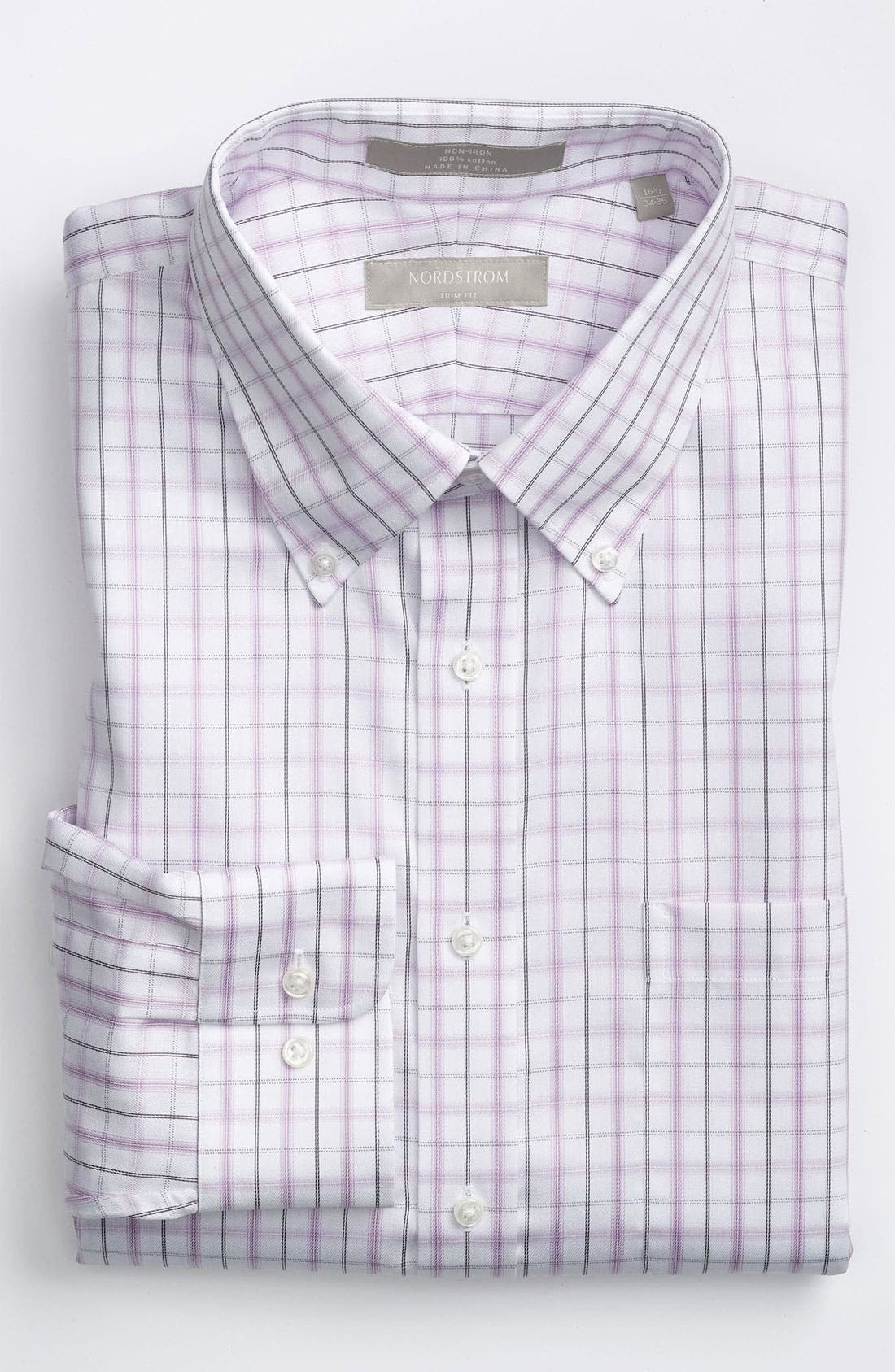 Main Image - Nordstrom Trim Fit Non-Iron Dress Shirt (Online Exclusive)