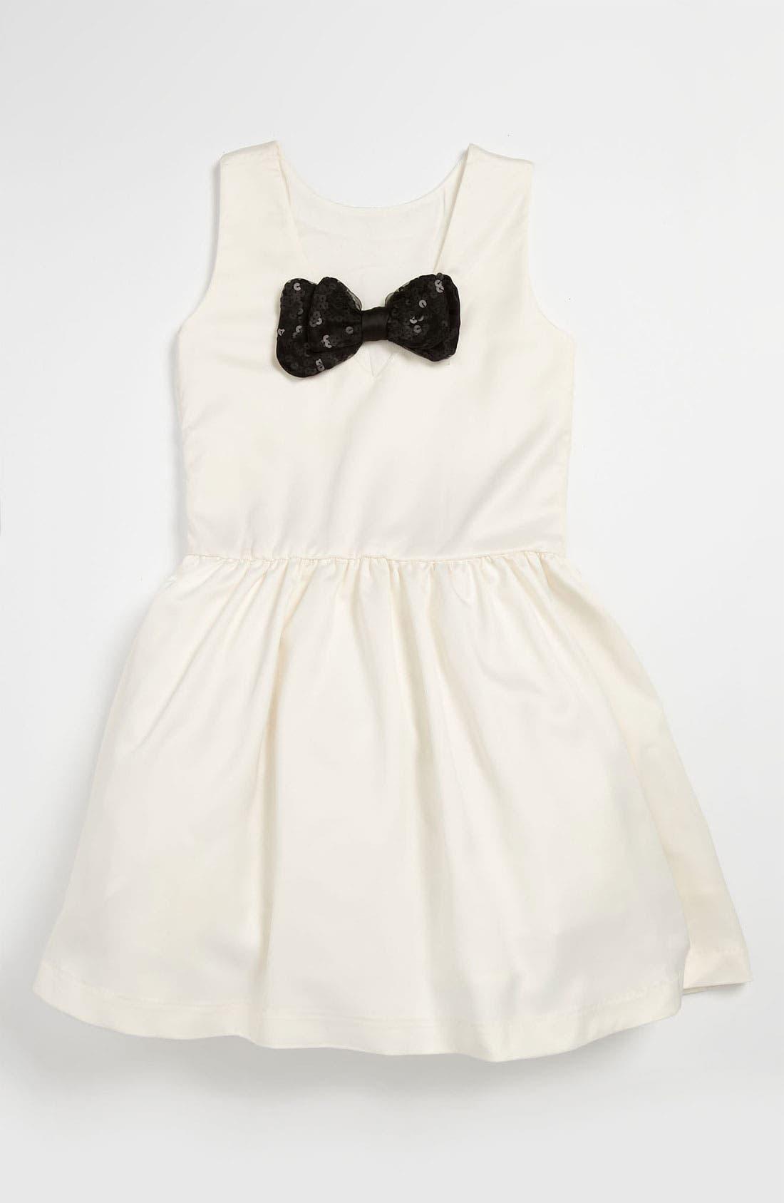 Alternate Image 2  - La Piccola Danza Kidswear Bow Back Dress (Little Girls & Big Girls)
