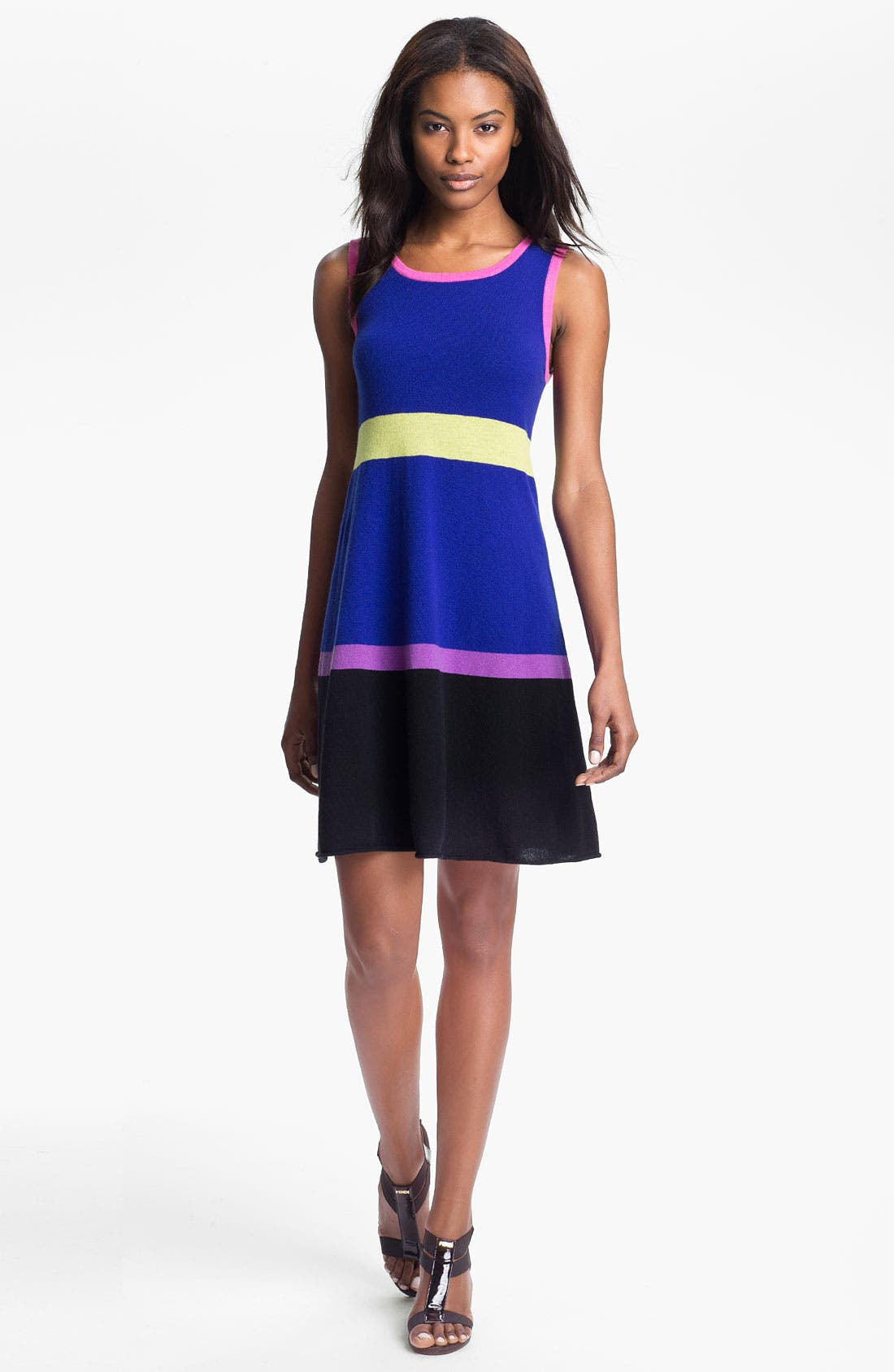 Main Image - autumn cashmere Colorblock Flared Tank Dress