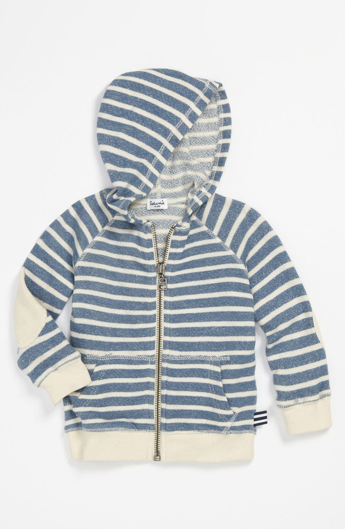 Alternate Image 1 Selected - Splendid Stripe Hoodie (Infant)