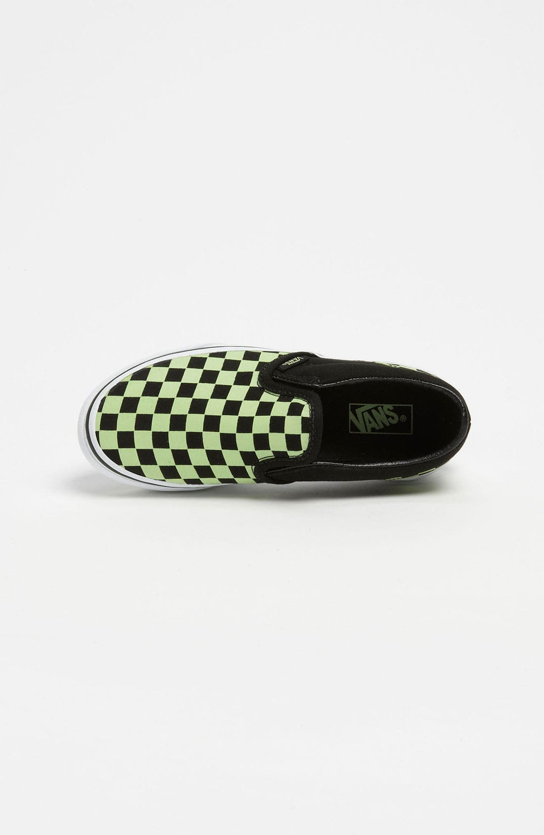 Alternate Image 3  - Vans 'Classic Checker - Glow in the Dark' Slip-On (Toddler, Little Kid & Bid Kid)