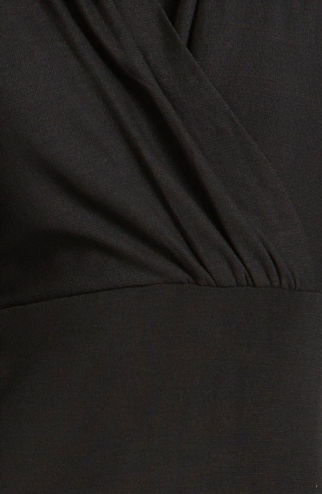 Alternate Image 3  - Exclusively Misook Long Sleeve Surplice Dress