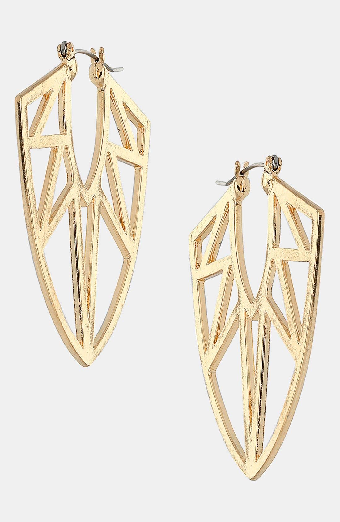Alternate Image 1 Selected - Topshop 'Geo Triangle' Earrings