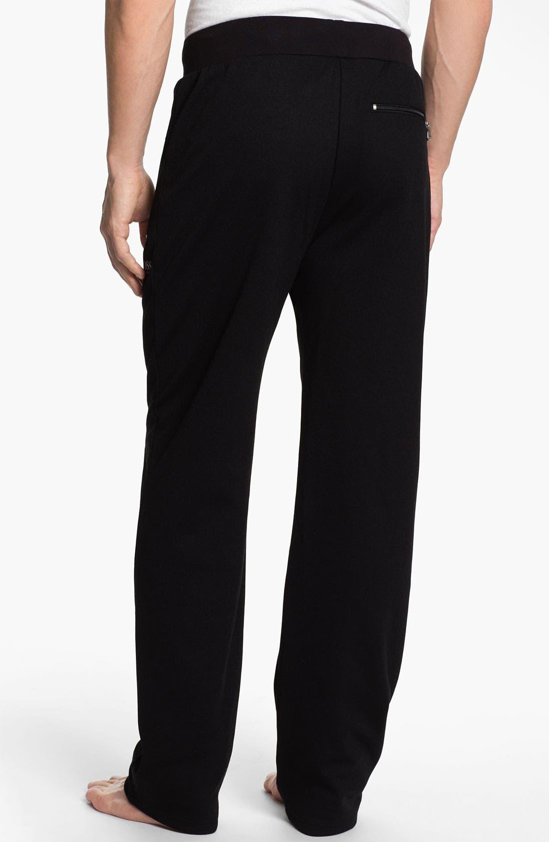 Alternate Image 2  - BOSS Black Cotton Blend Lounge Pants