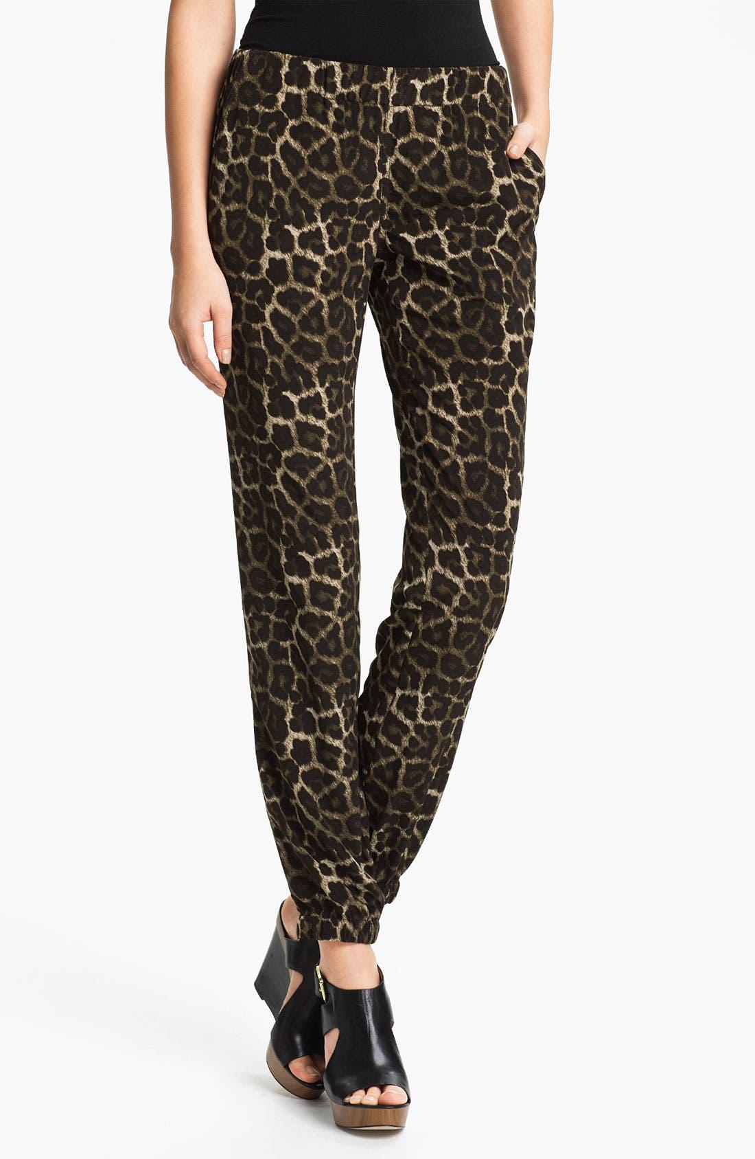 Alternate Image 1 Selected - MICHAEL Michael Kors Leopard Print Pants