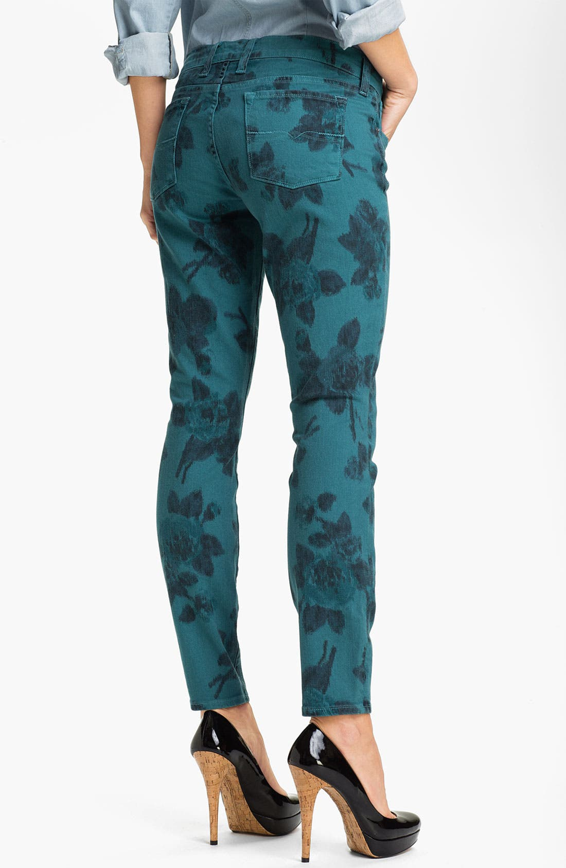 Alternate Image 2  - Lucky Brand 'Charlie' Ikat Print Skinny Jeans (Online Exclusive)