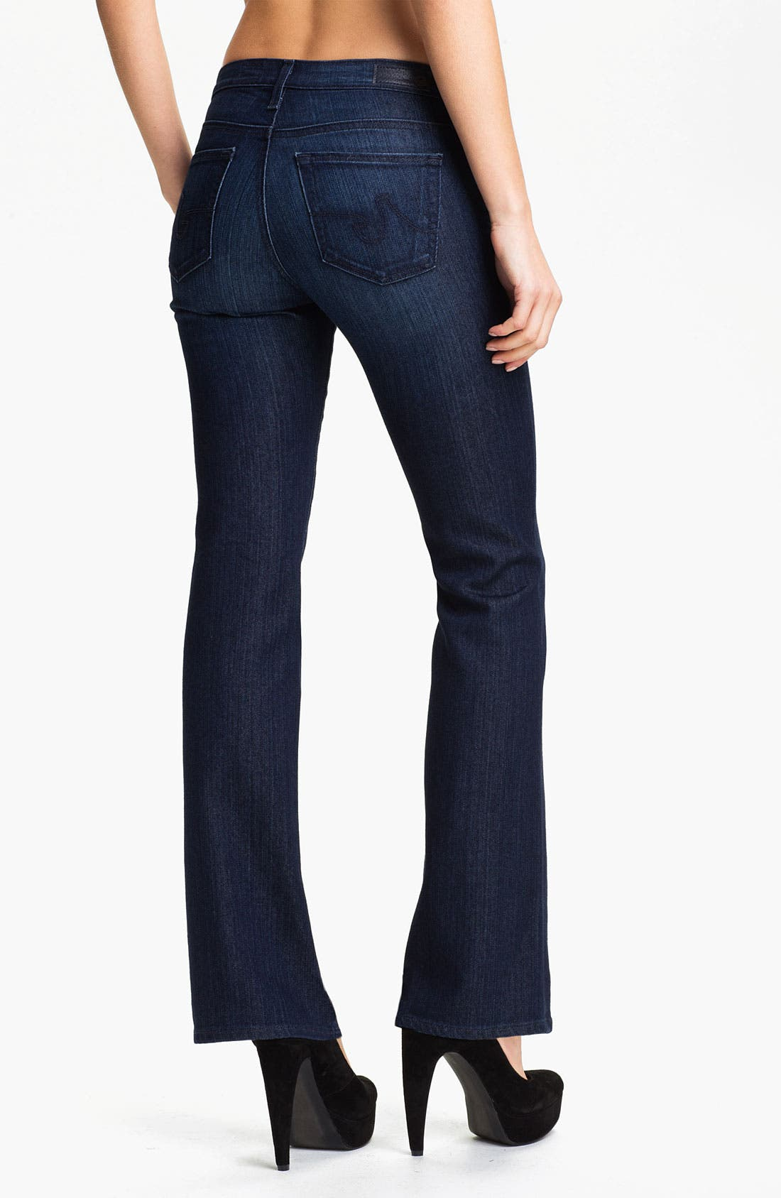 Alternate Image 2  - AG Jeans 'Angelina' Petite Bootcut Jeans (Willow)