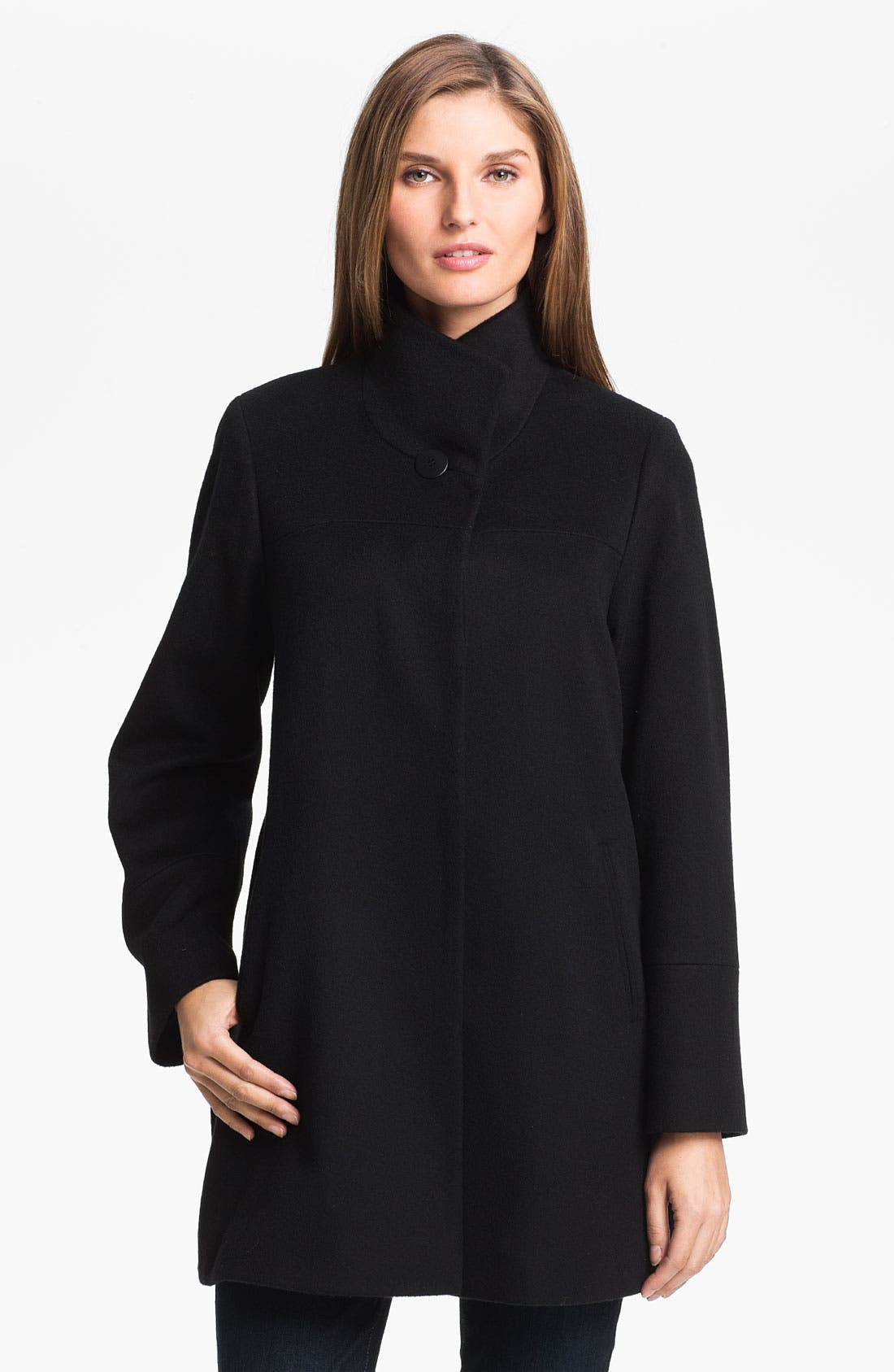 Alternate Image 1 Selected - Fleurette Stand Collar Coat