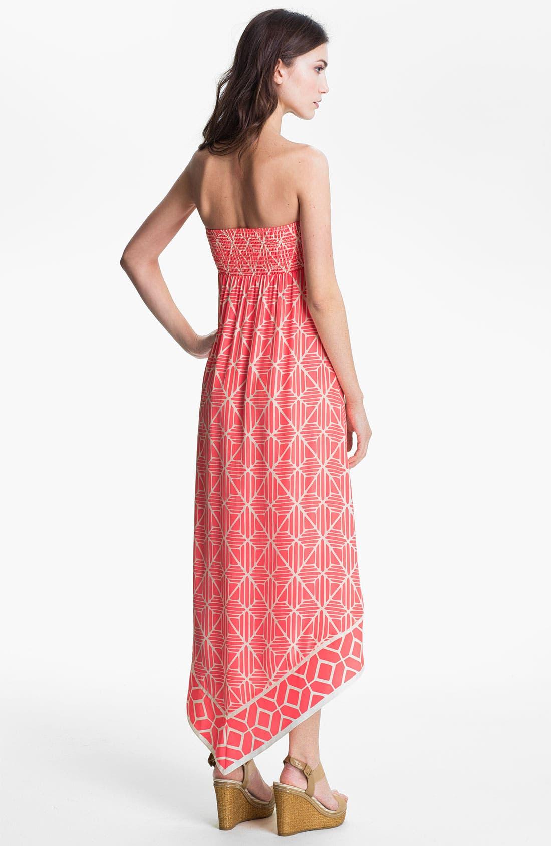 Alternate Image 2  - ALICE & TRIXIE 'Olivia' Strapless Printed Silk Maxi Dress