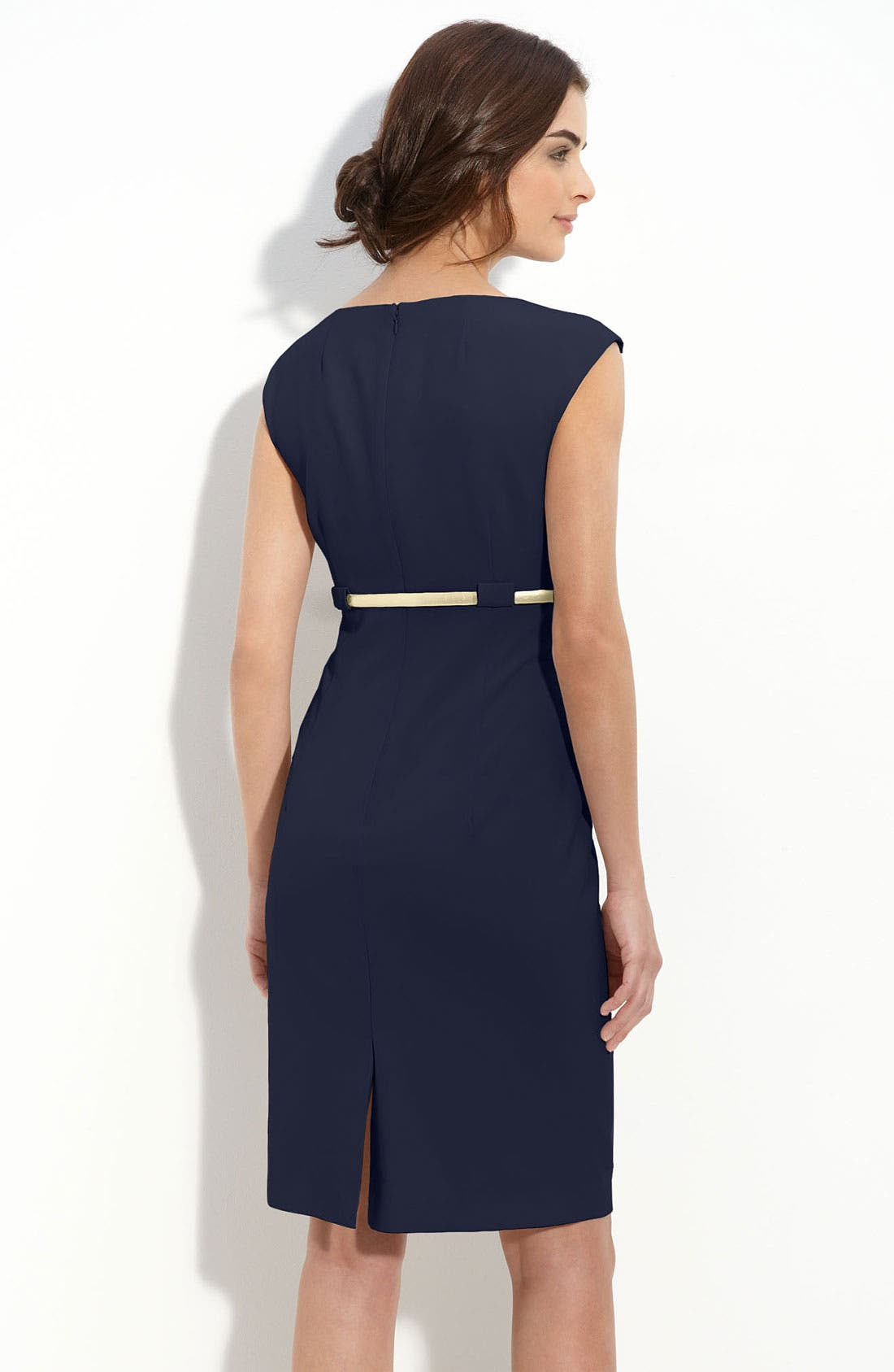 Alternate Image 2  - Calvin Klein 'Stretch Luxe' Belted Sheath Dress