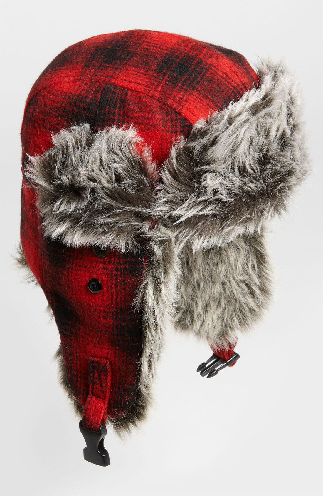 Main Image - Free Authority 'Red Buffalo' Plaid Faux Fur Trapper Hat