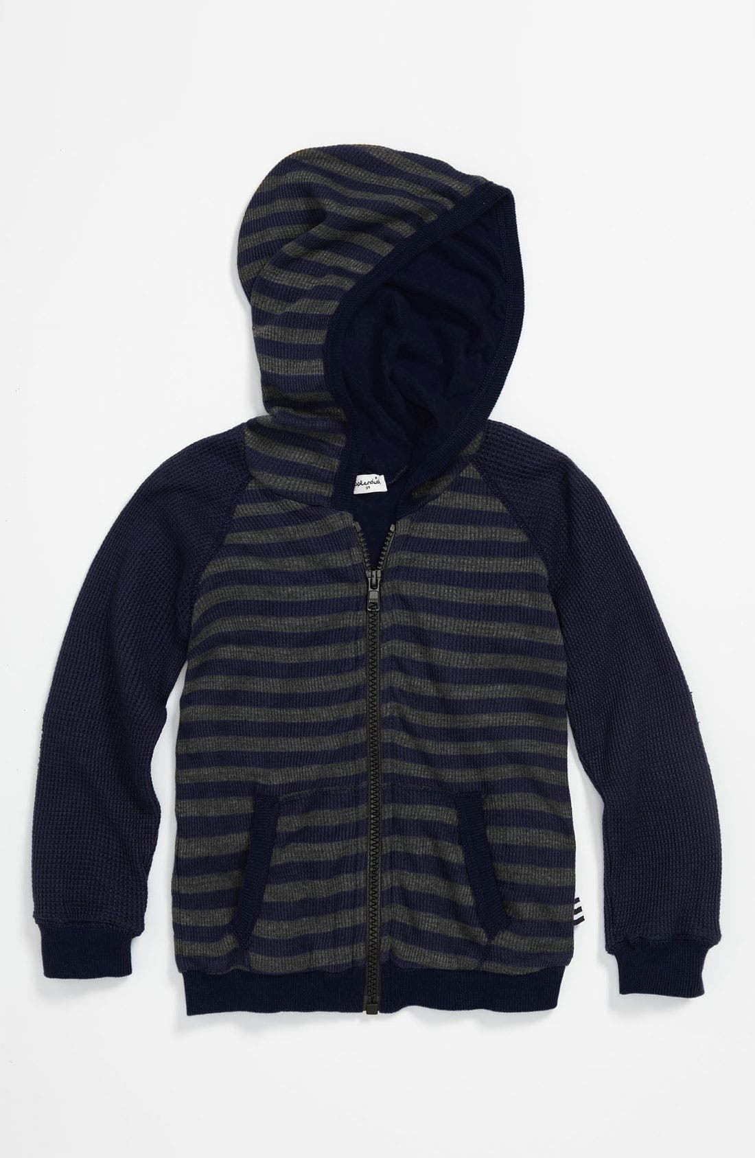 Alternate Image 1 Selected - Splendid Thermal Stripe Hoodie (Toddler)