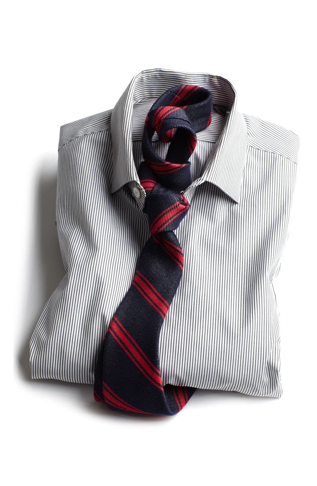 Alternate Image 3  - John Varvatos Collection Trim Fit Stripe Dress Shirt