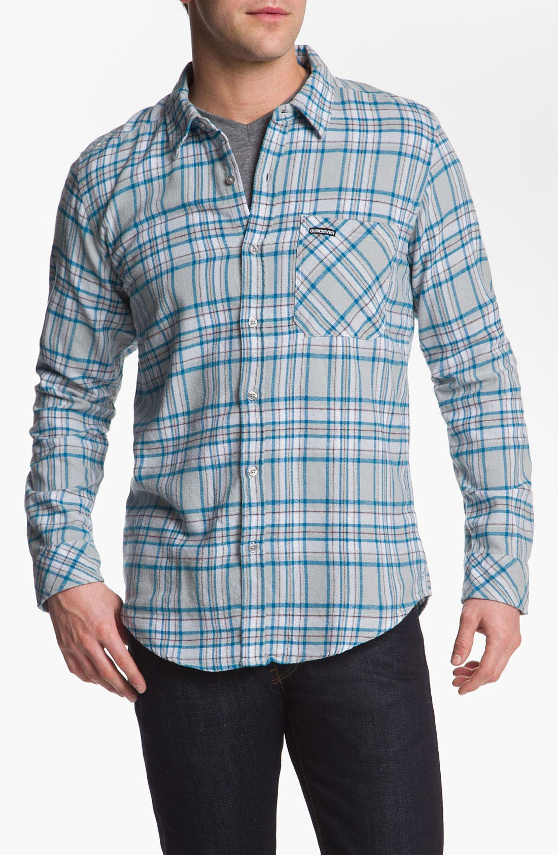Alternate Image 1 Selected - Quiksilver 'Bunga Bunga' Cotton Flannel Shirt