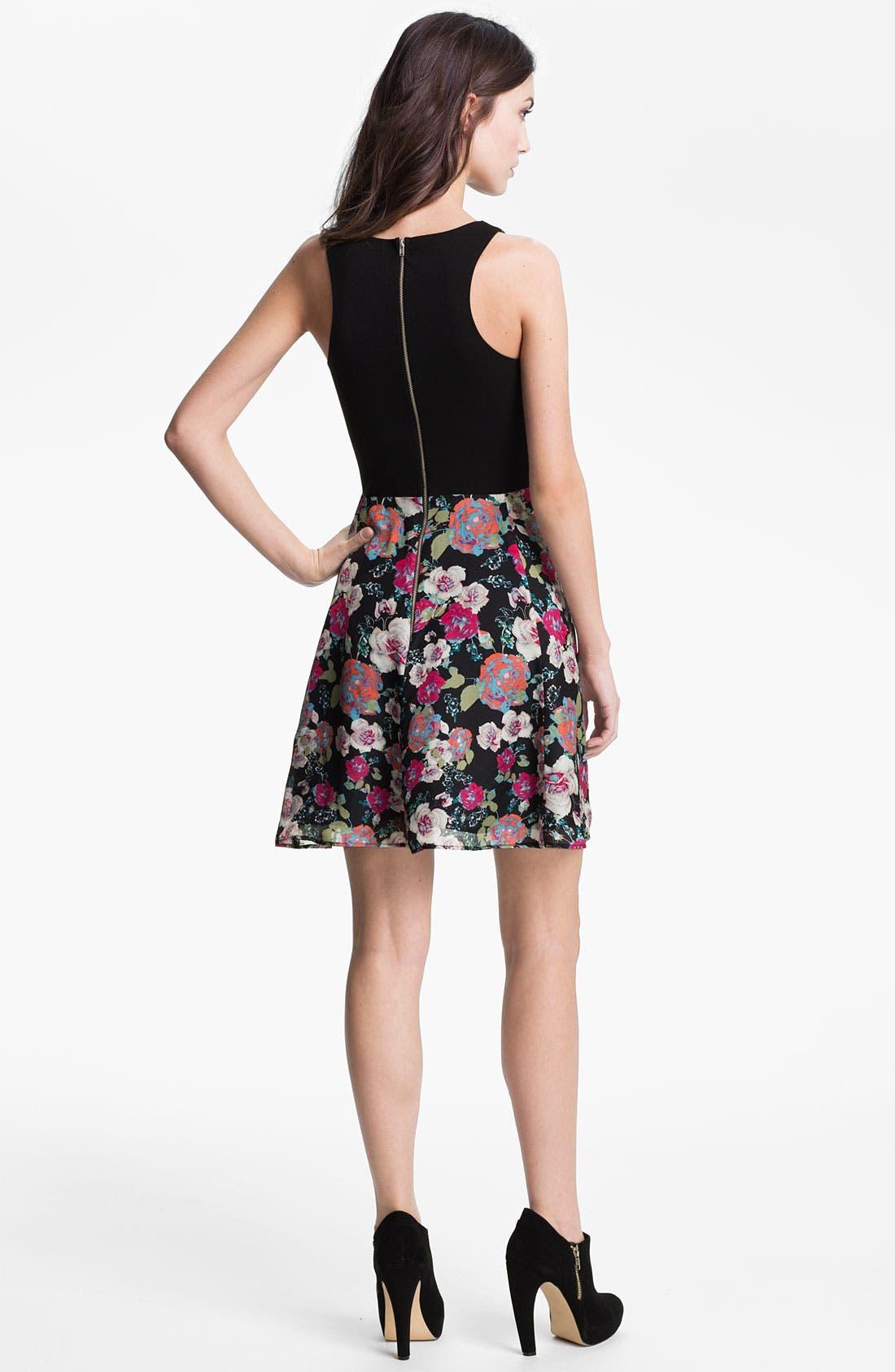Alternate Image 2  - Eight Sixty Mixed Media Dress