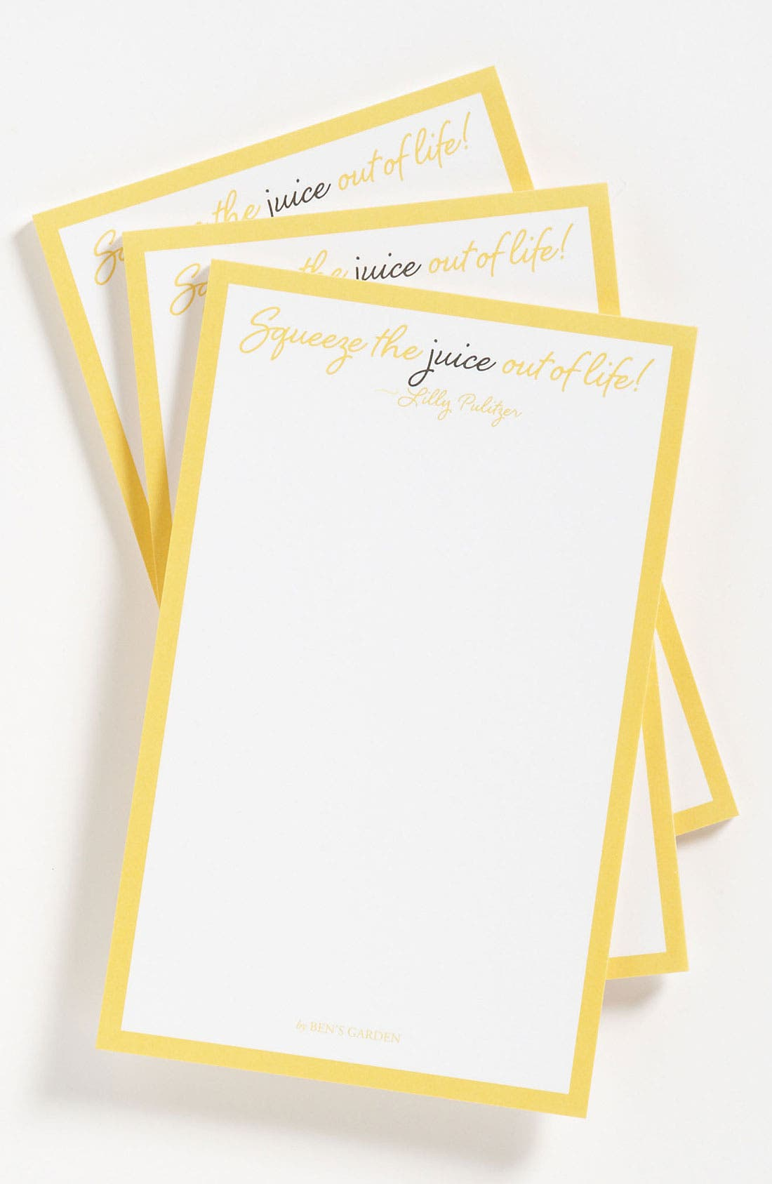 Alternate Image 1 Selected - Ben's Garden 'Squeeze the Juice Out of Life' Notepads (3-Pack)